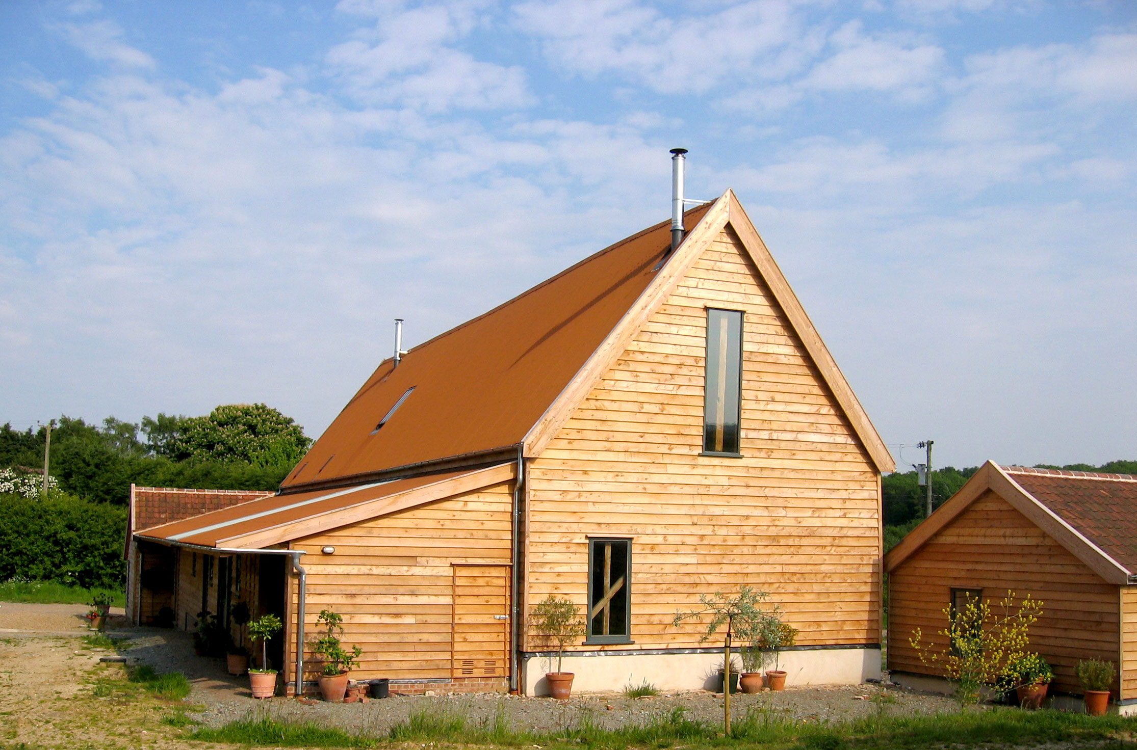 Parham Barn conversion suffolk modece architects contemporary dwelling