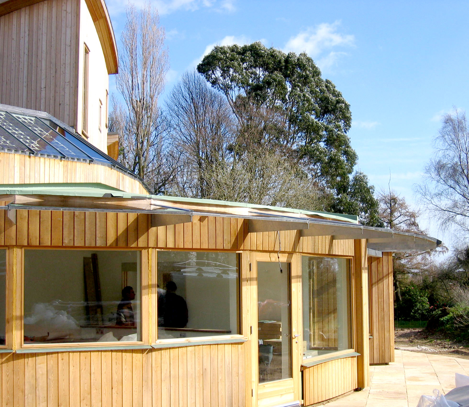 Robin's Hill replacement dwelling in aldeburgh suffolk modece architects eco house curved