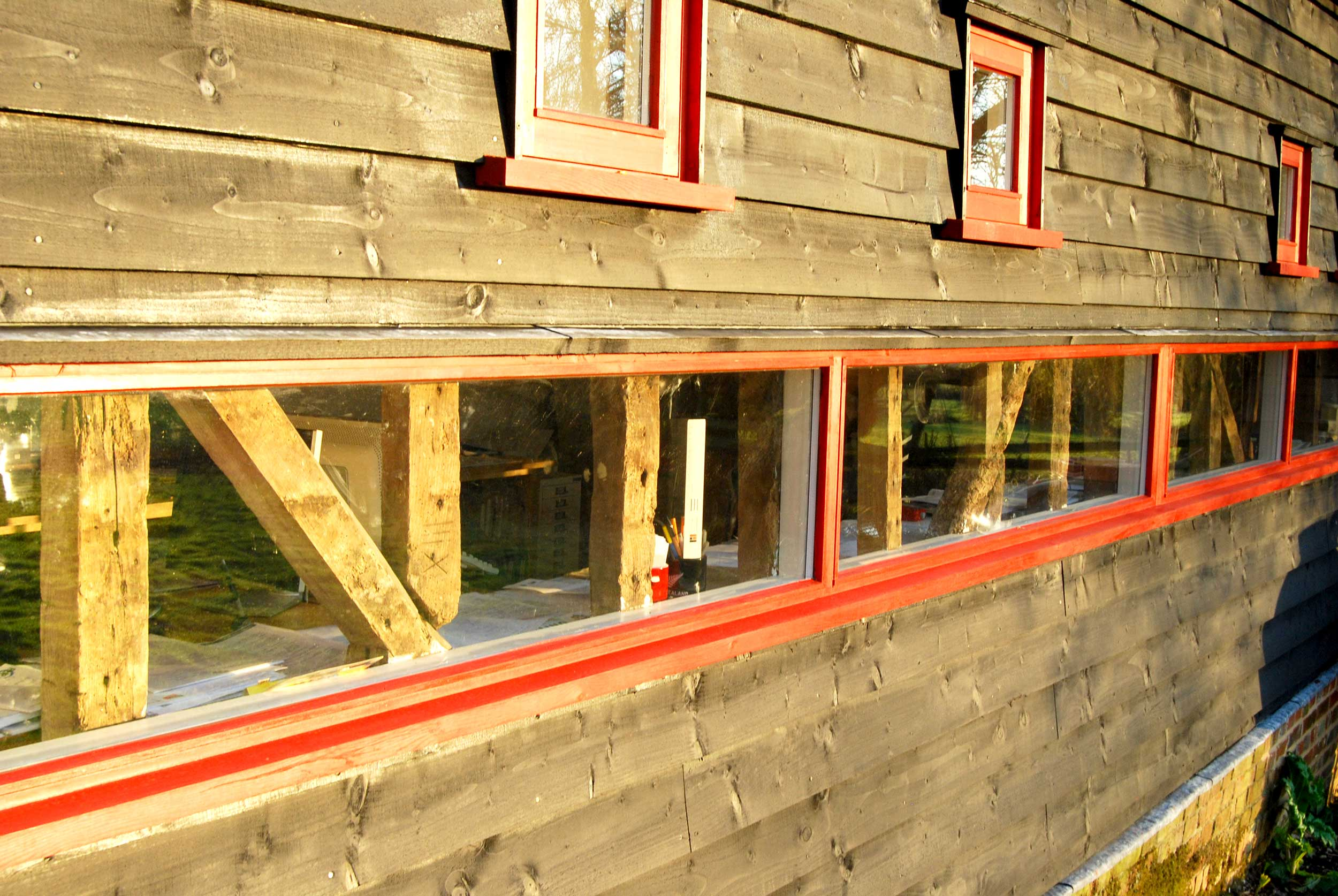 Architect's Studio modece office in hartest, suffolk hemp deep green eco commercial design
