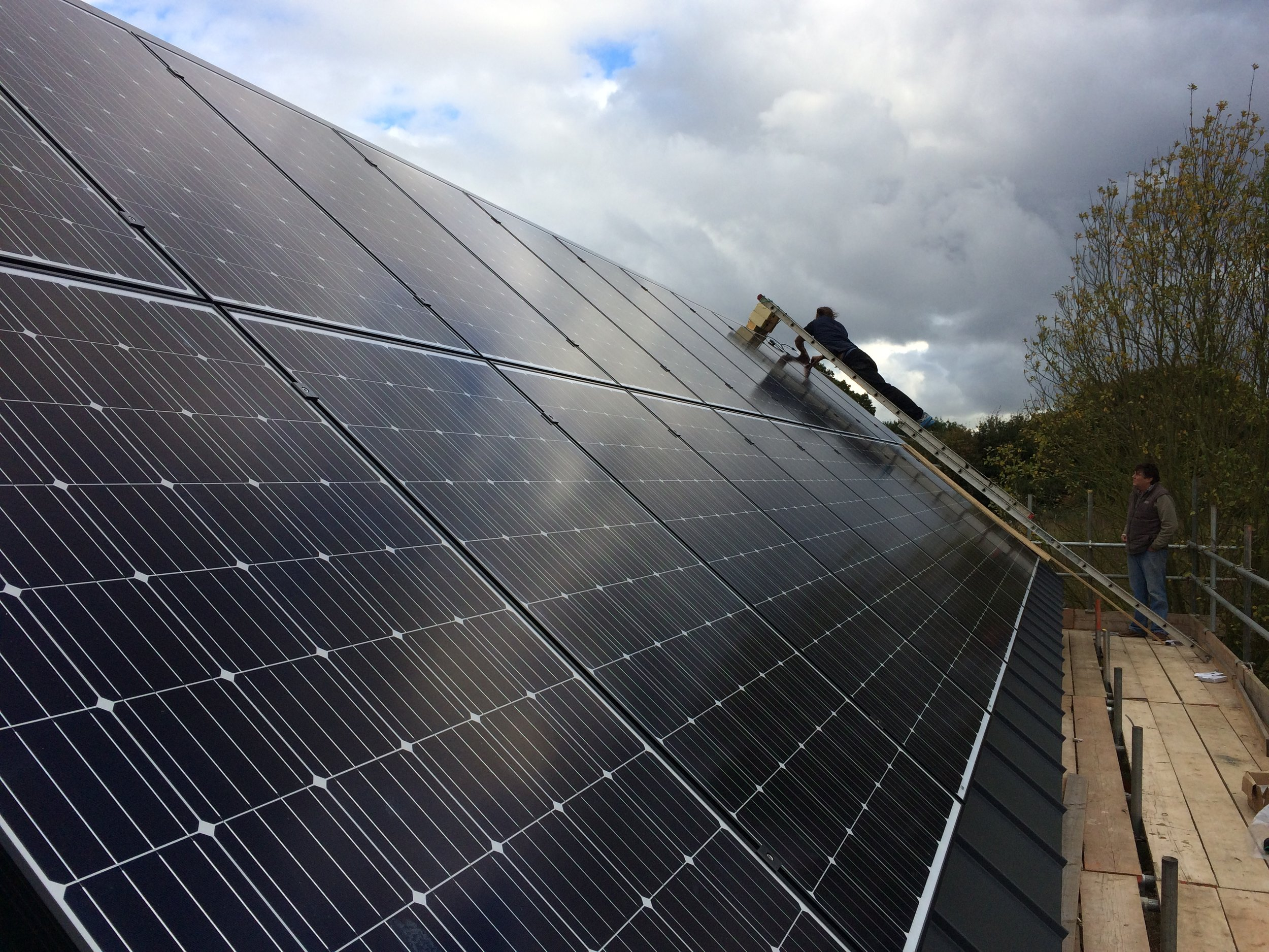 Installation of the PV array on Top Barn