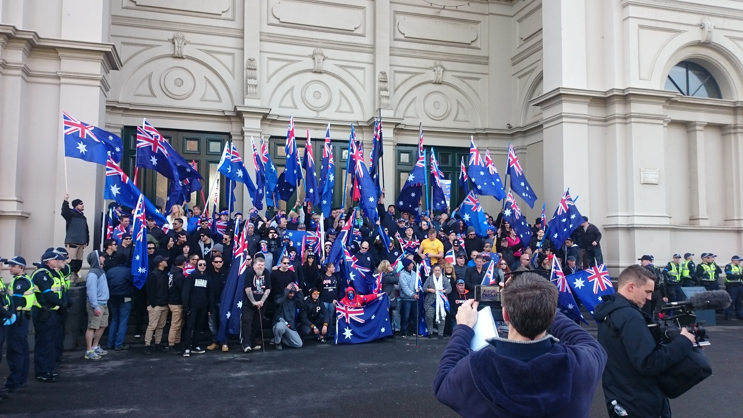 All those at the rally celebrate the day.