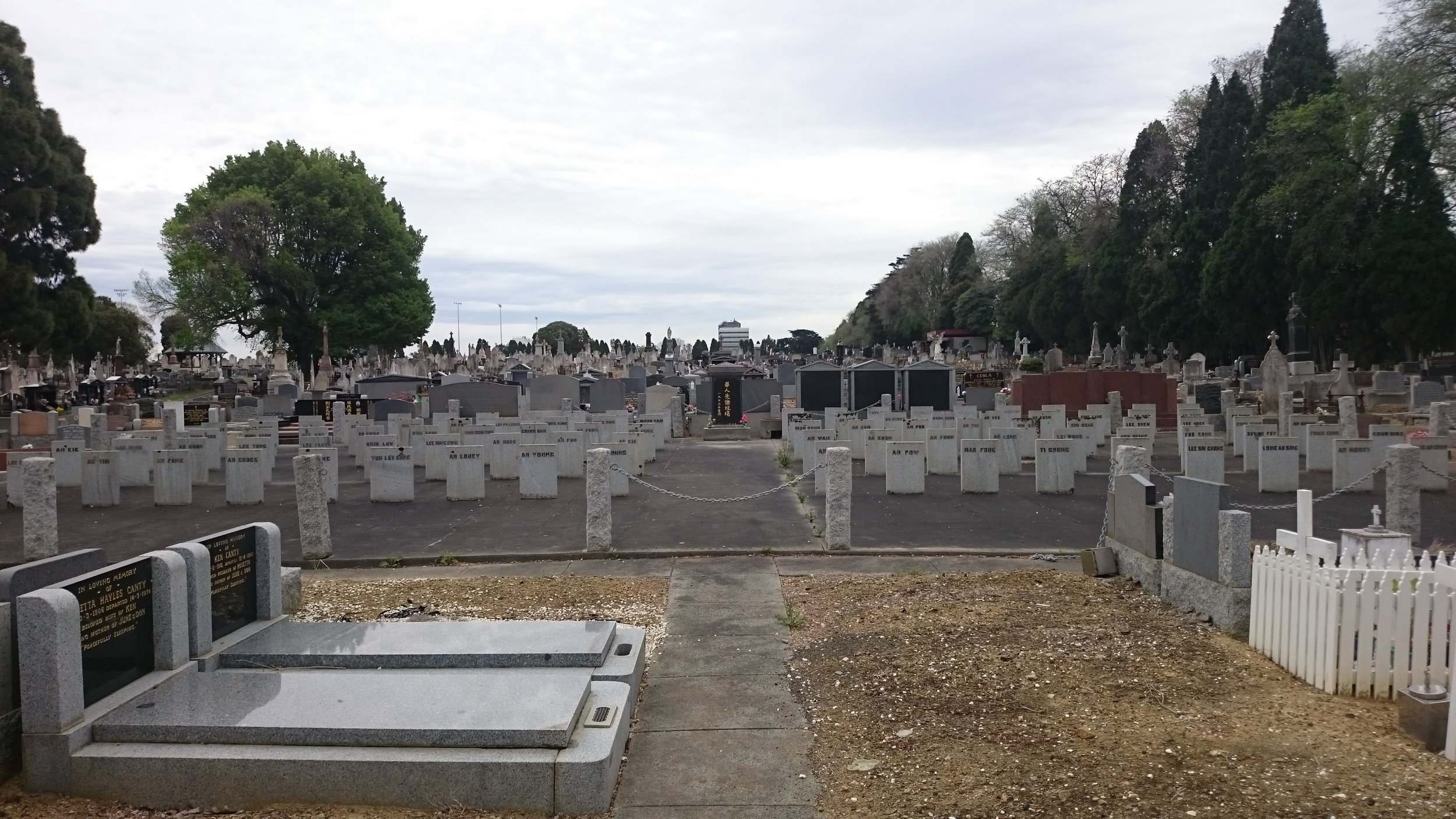 The memorial site.