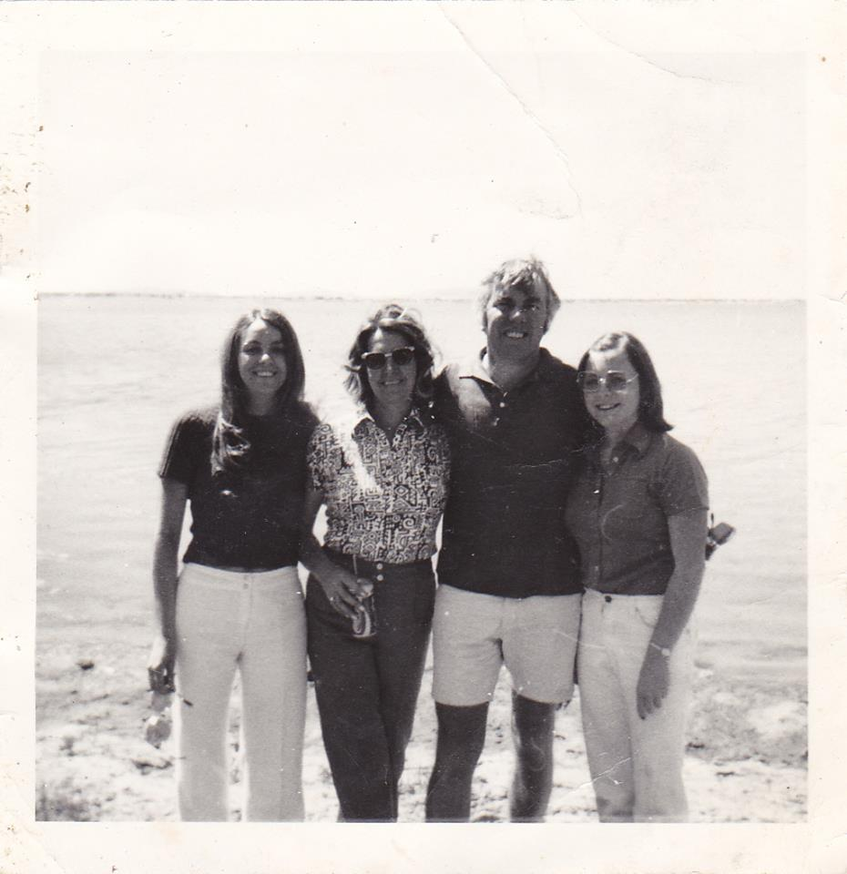 The Hills looking very stylish in the 70s. (left to right: Eleanor, Mary, Brian, Sue)
