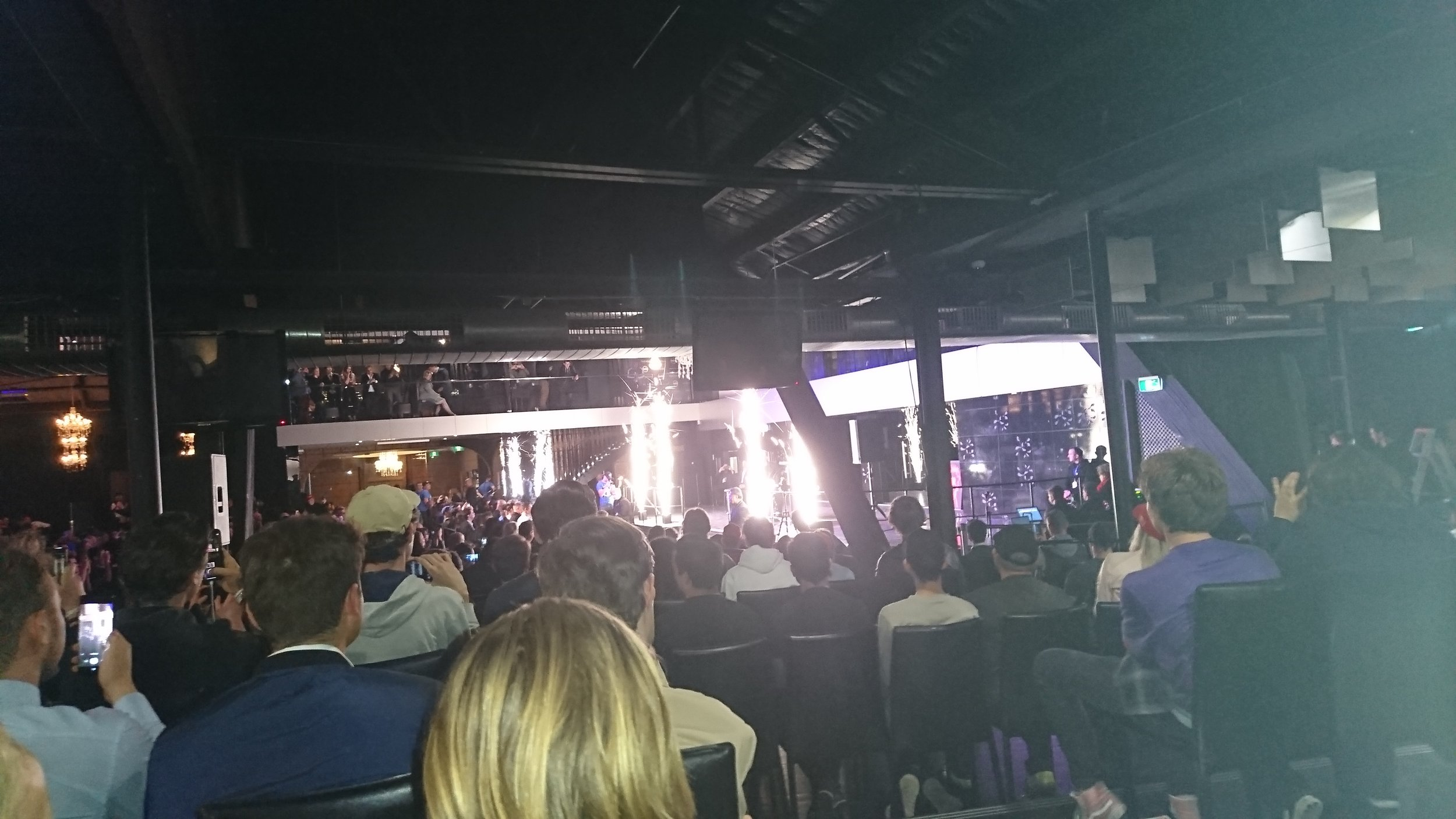 The view of Milo's grand entrance from my shitty seats.