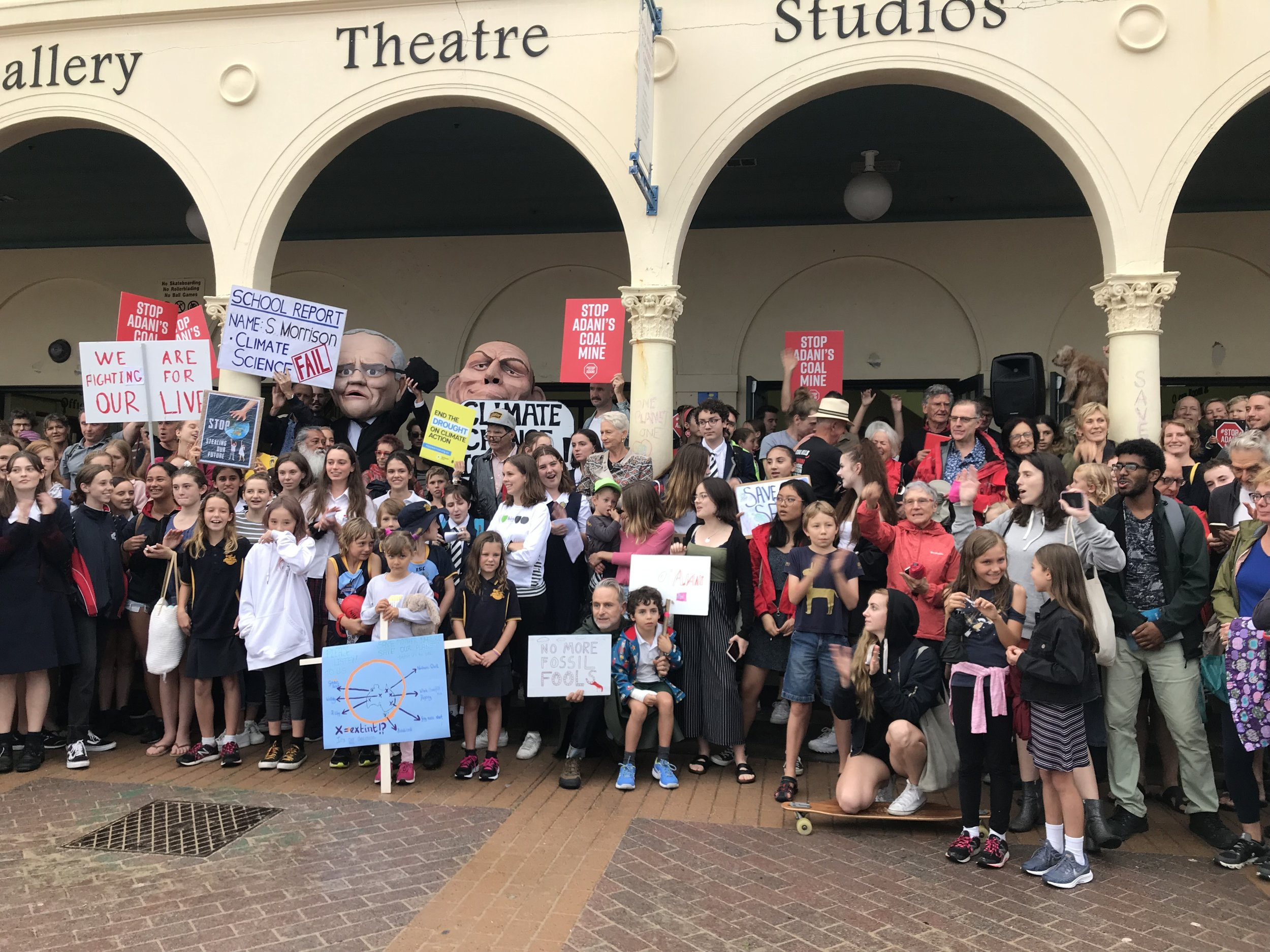 One of the many School Strike 4 Climate demonstrations. This one was in Bondi. Picture: Cinnamon Nippard
