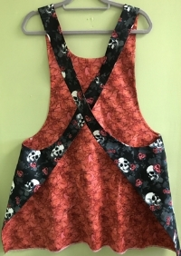 Back view of Sarah's famous skull apron -