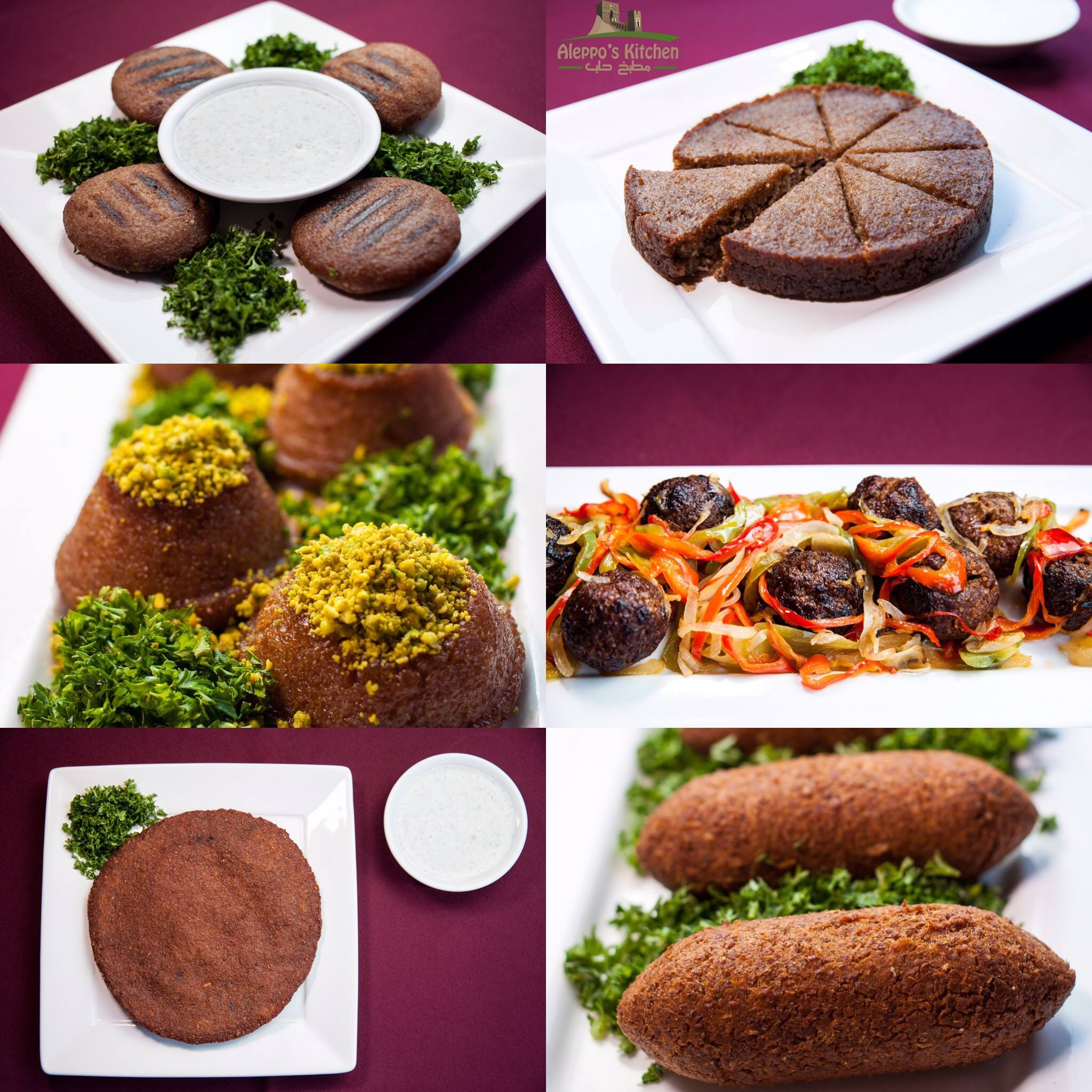 Some our famous homemade kibbeh platters