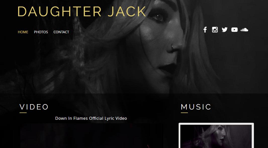 DAUGHTER JACK  - SINGER/SONGWRITER