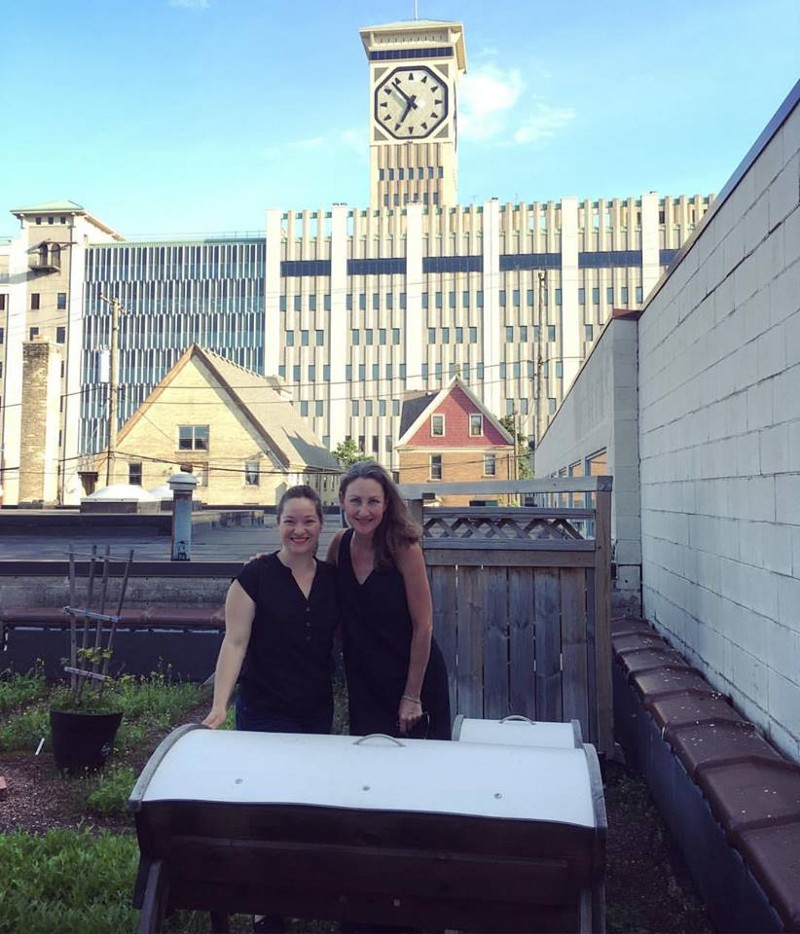 Maigatter (left) with Braise's rooftop Beepod