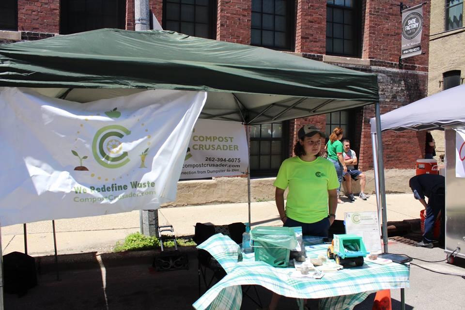 Compost Crusader at our recent Garlic Fest!