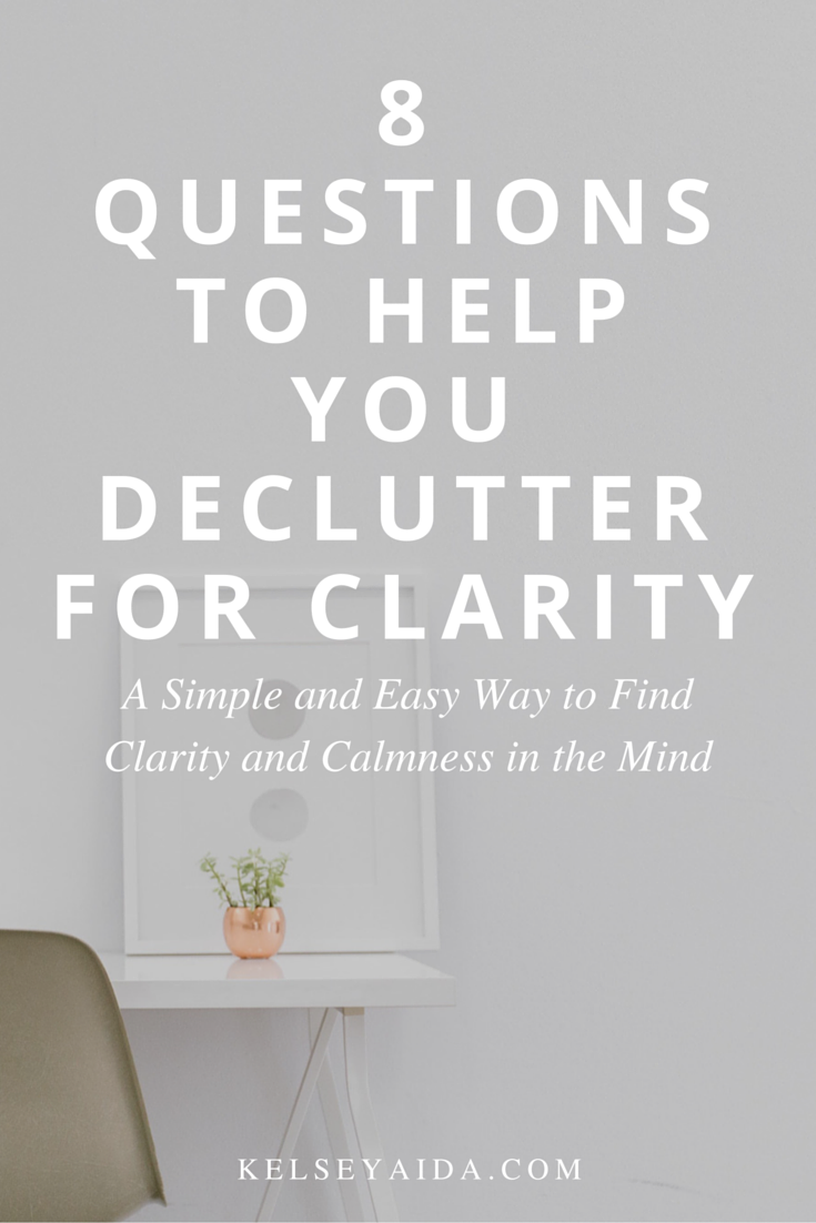 8 Questions to Help You Declutter: How freeing space in the home calms the mind.