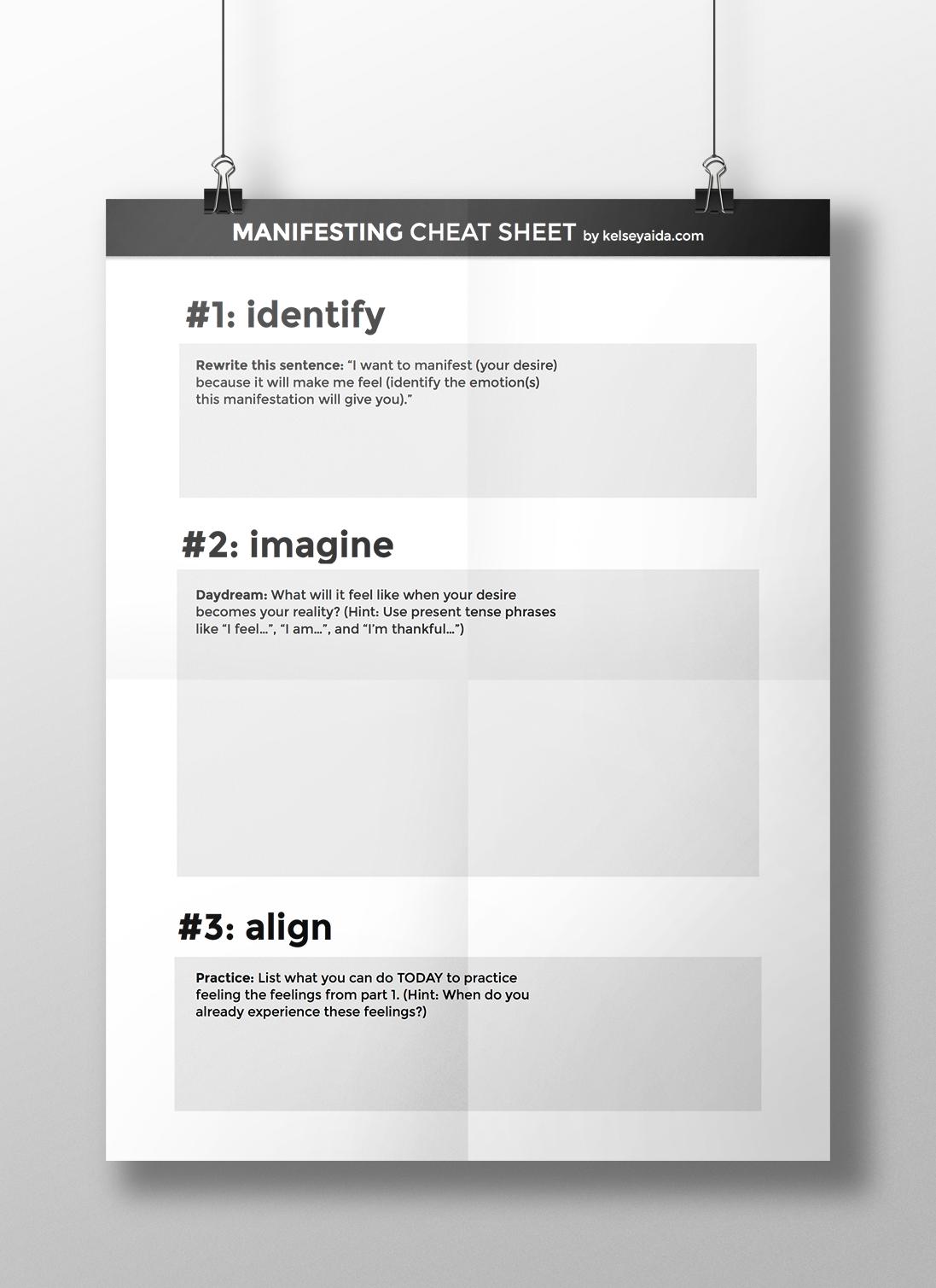 Manifesting Cheat Sheet