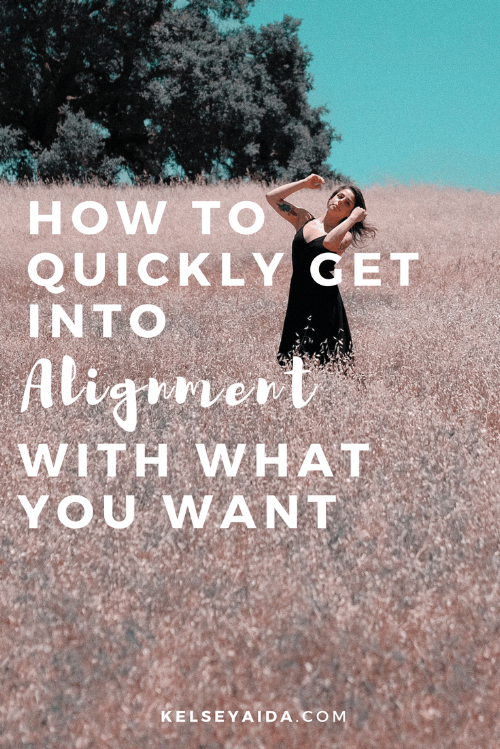 How to Quickly Get into Alignment with What You Want