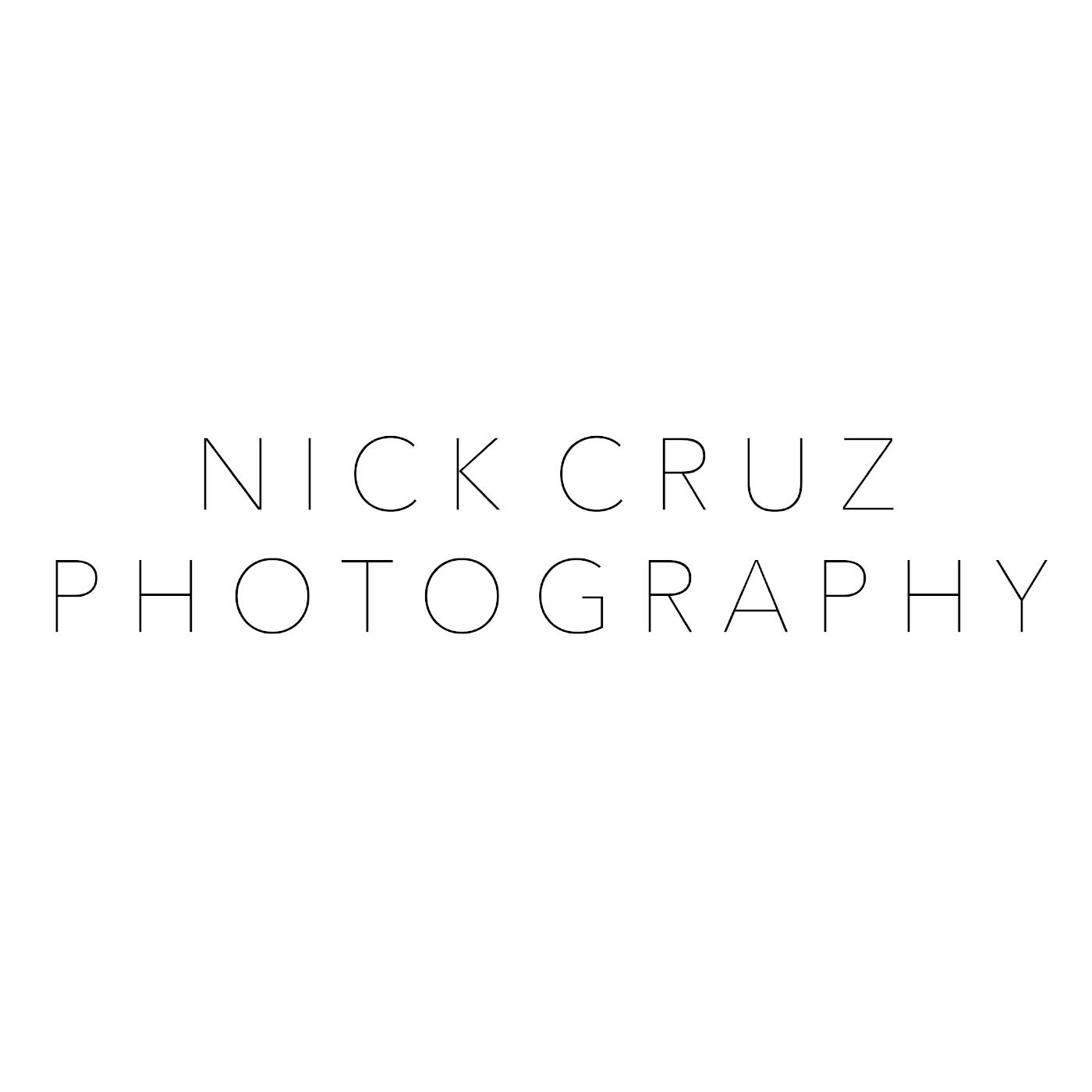 Nick Cruz Photography    Services:  - Branding + Strategy  - Logo  - PR