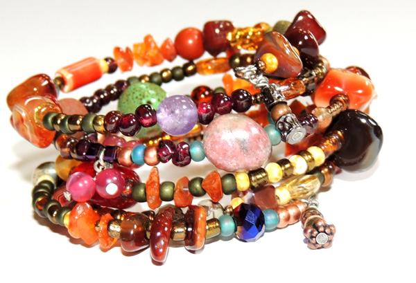 Autumn Harvest Memory Wrap Bracelet