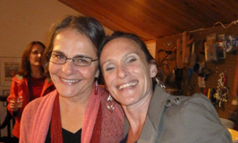 The ARTsee founders, Caren Frost Olmsted and Gail Mardfin.
