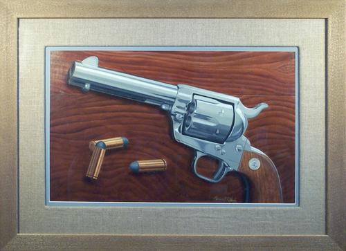 "Navy Colt   Oil on illustration board, 21""x29"""