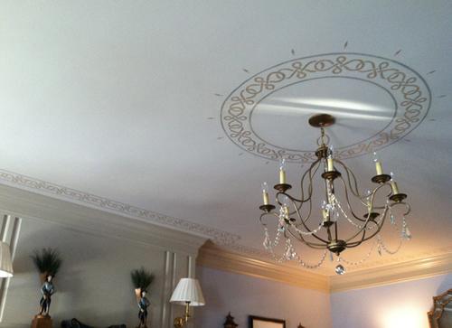 Ceiling Art   Custom stenciling