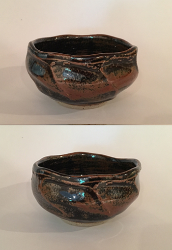 Two views of Faceted Bowl