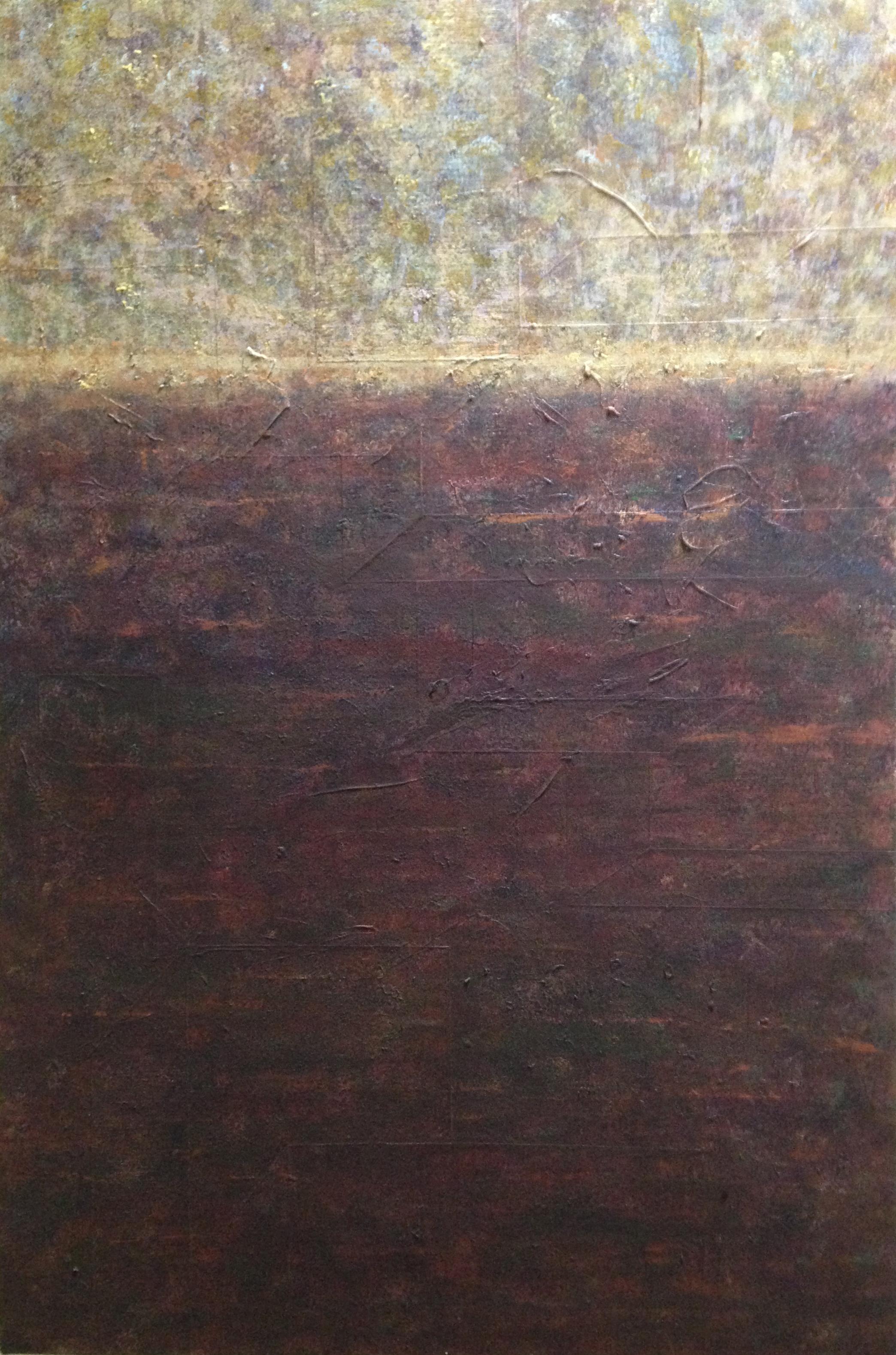Golden Horizon   Acrylic painting,   36″x24″