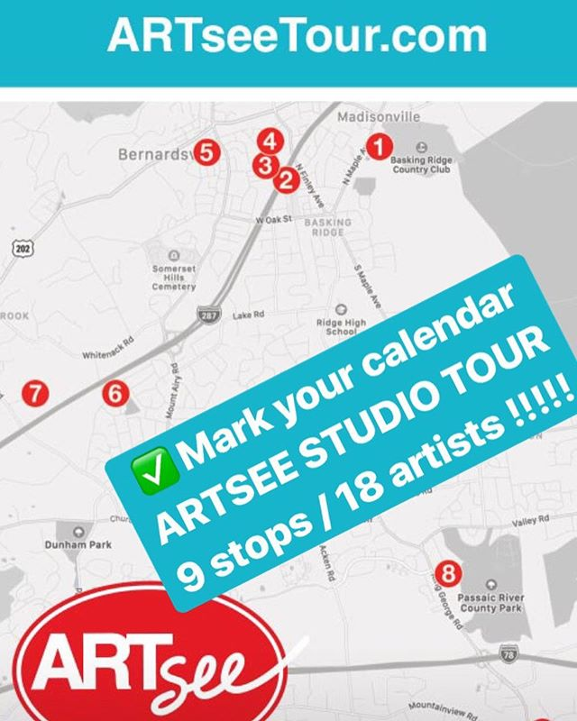18 artist at 9 Tour Stops - Open Studios / 2 days September 28 & 29th. See painting, drawing, ceramics,photography, collage and more !!! 9 stops 18 Artists - photographers painters drawings ceramics collage and more ! Visit  www.artseenj.org/events for more artist info