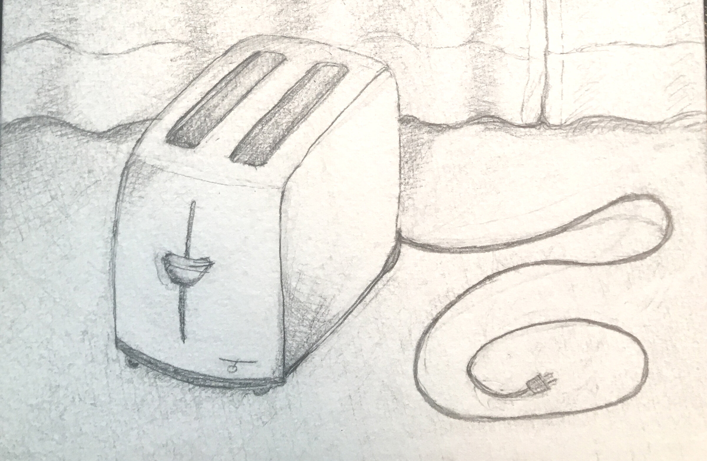 """Toaster"" Graphite drawing"