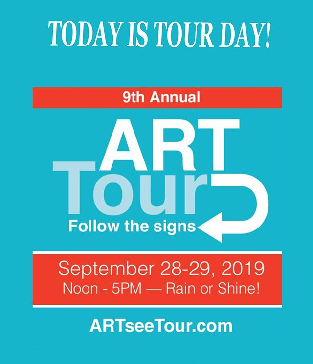 TODAY IS TOUR DAY #1 Come out and visit us at our free artist studio tour today. There will be artwork by 18 artists in 9 locations throughout Basking Ridge and Bernardsville!  Lots to see painting photography drawing ceramics sculpture collage and more! #freeartevent #bernardsville #baskingridge #local #localartists  #njsrt #art #paintjng #drawing #ceramics #acrylic #oil #pourpainting #artseetour19