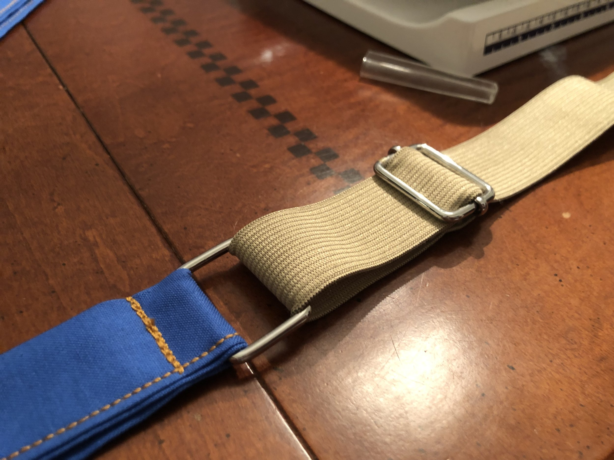 Straps with elastic attached