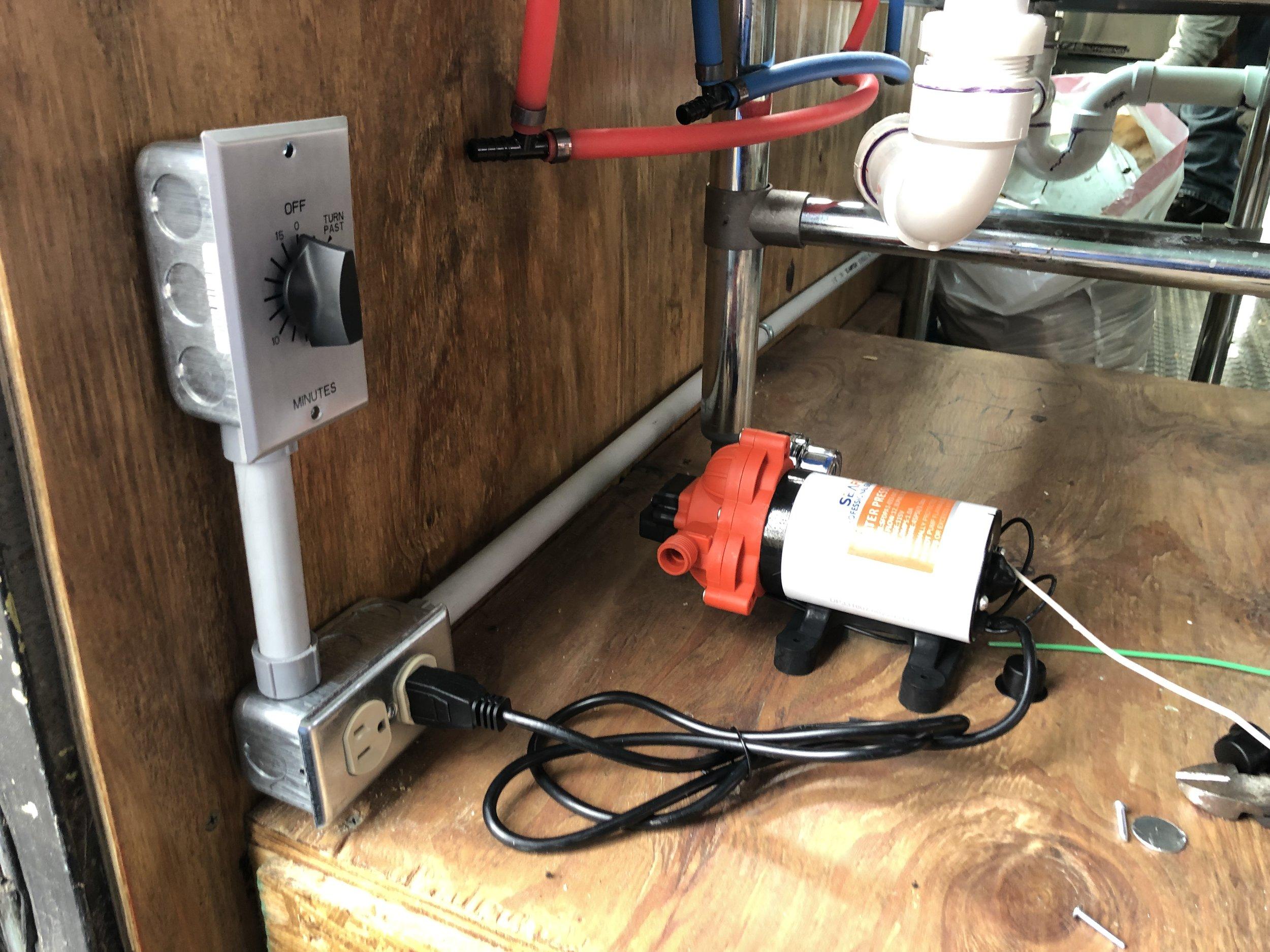Water pump/ timer