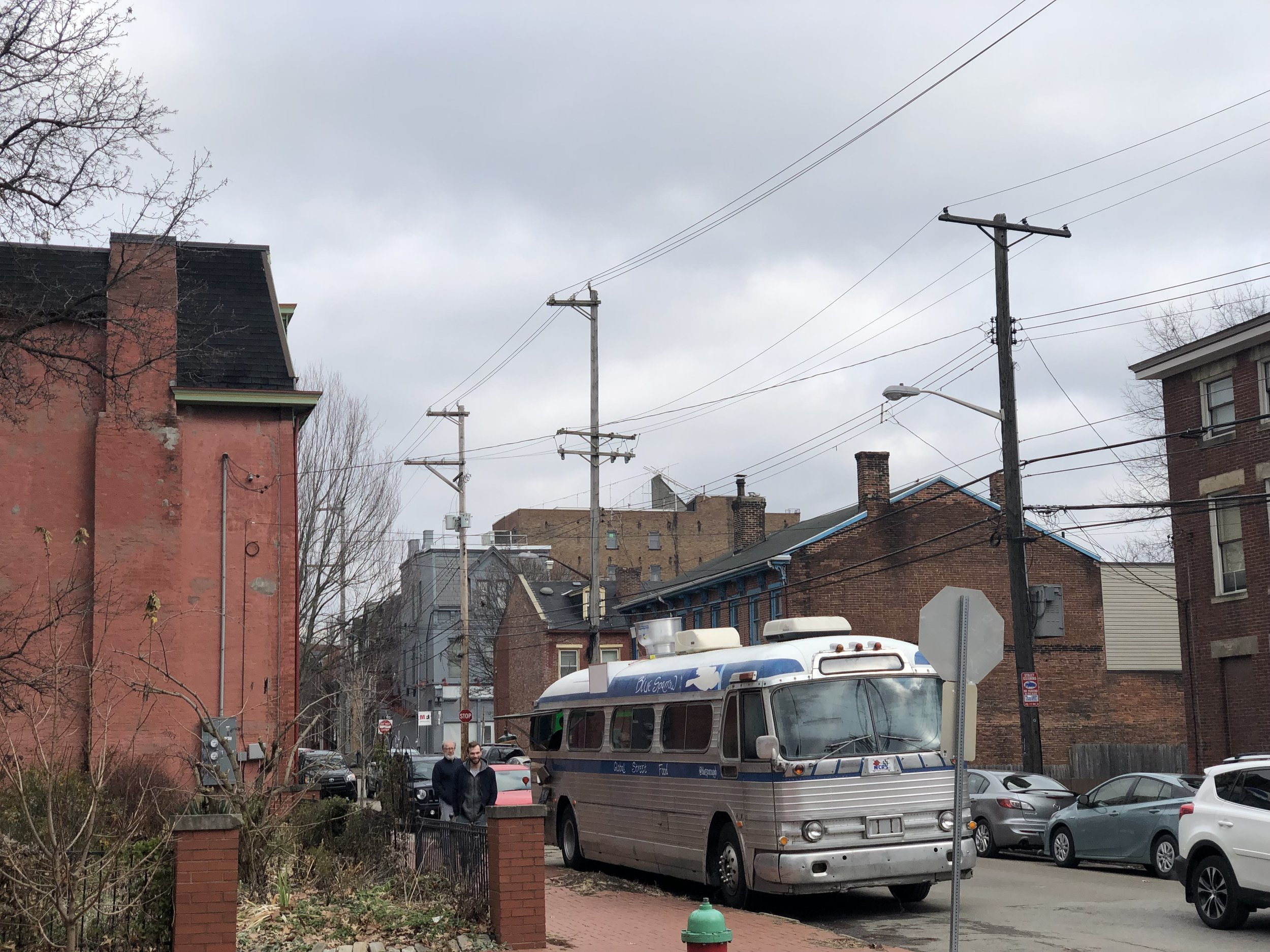The bus Parked at Commonplace Coffee Mexican War Streets