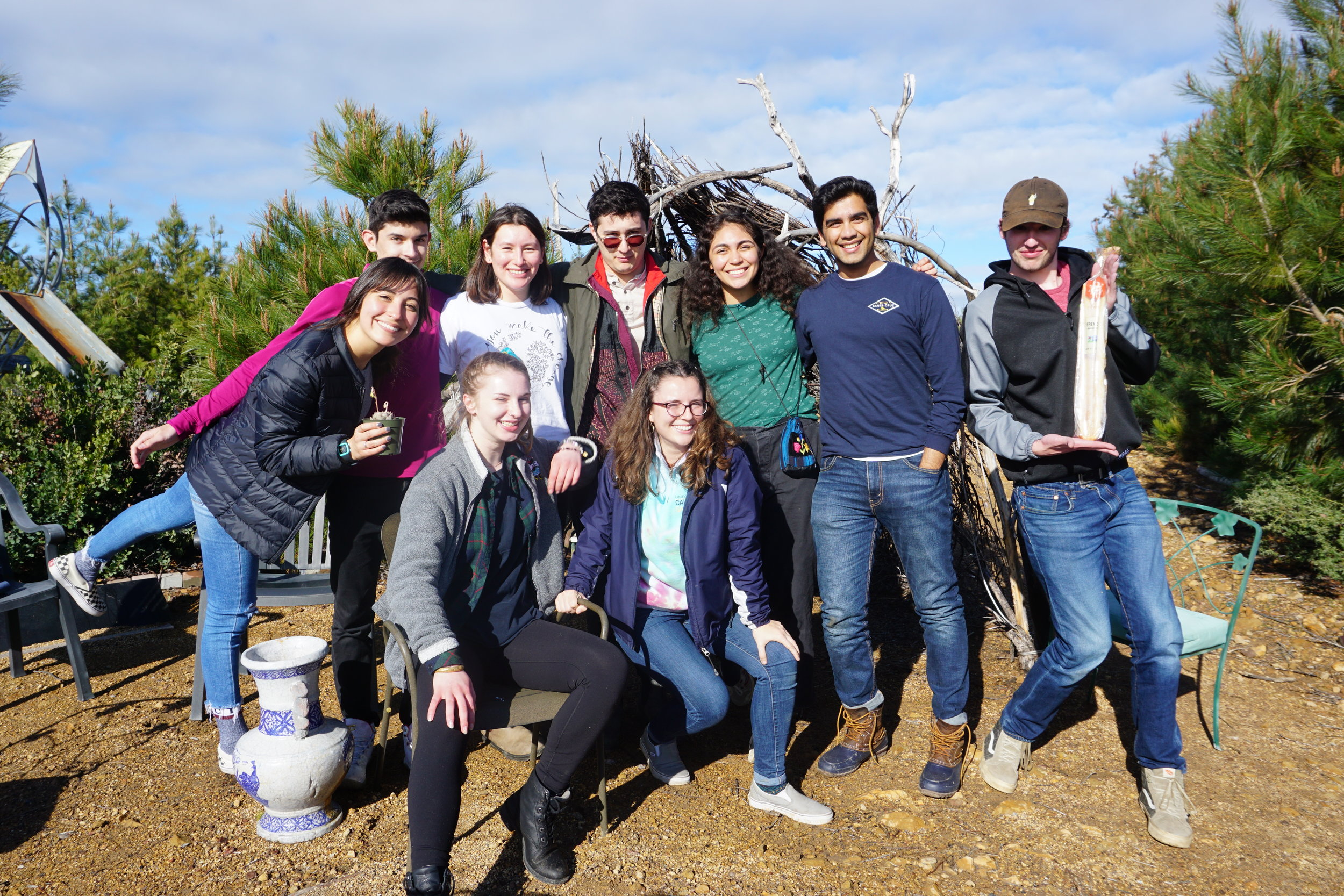 (Some of ) Our Spring 2019 team at Spring Retreat held at Wind Tree in the Santa Cruz Mountains (April 6th, 2019)