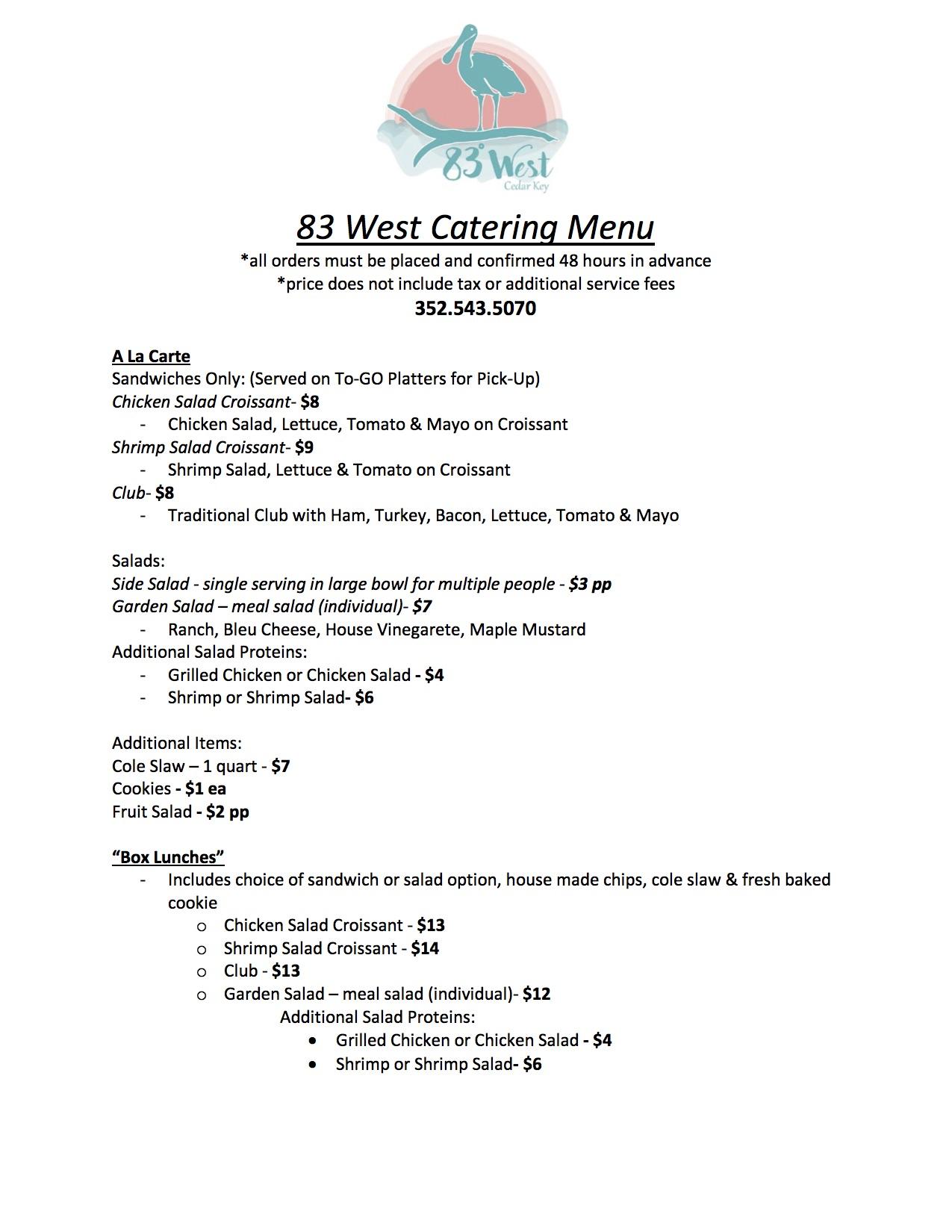83 West Catering Menu.jpg