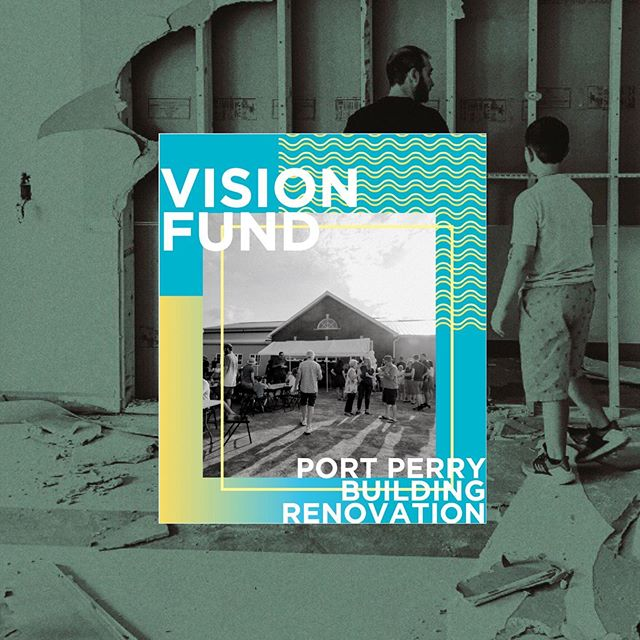 """VISION FUND  This Sunday, bring your pledge or contribution ready in an envelope marked """"vision fund"""". You can drop your gift in the offering plate as it passes by! What an honour it is to partner together with cheerful hearts to support God's vision for our Port Perry site.  #c4church #c4portperry #visionfund"""
