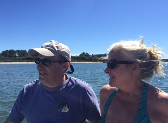 Maureen and Olivier aboard Merci