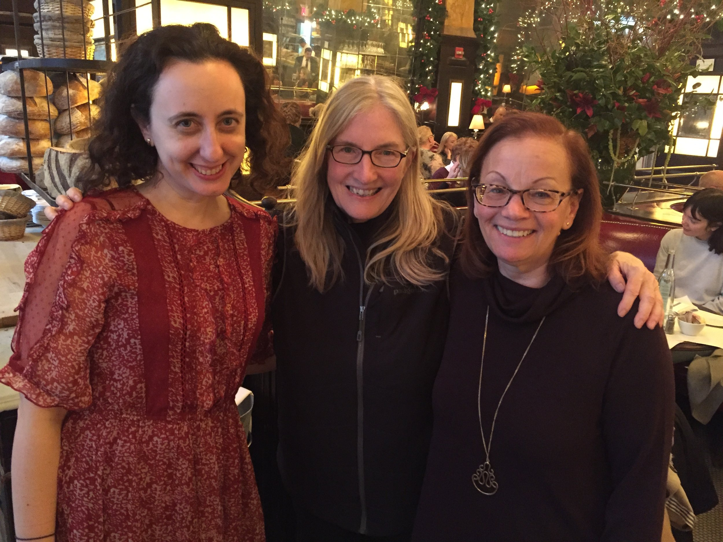 With Aimee Friedman and Andrea Cirillo at Balthazar.