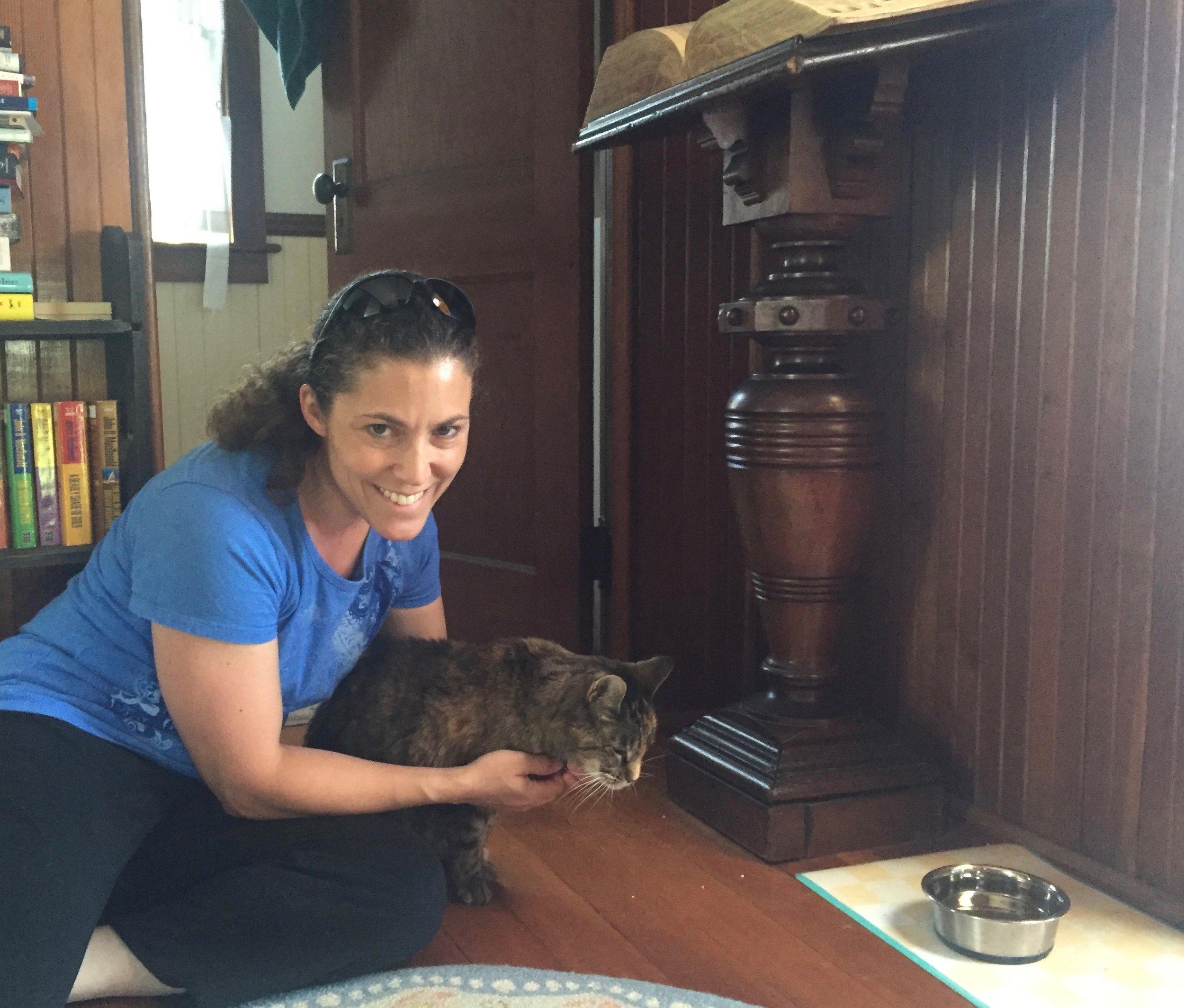 Dr. Jennifer Hall, our wonderful veterinarian.