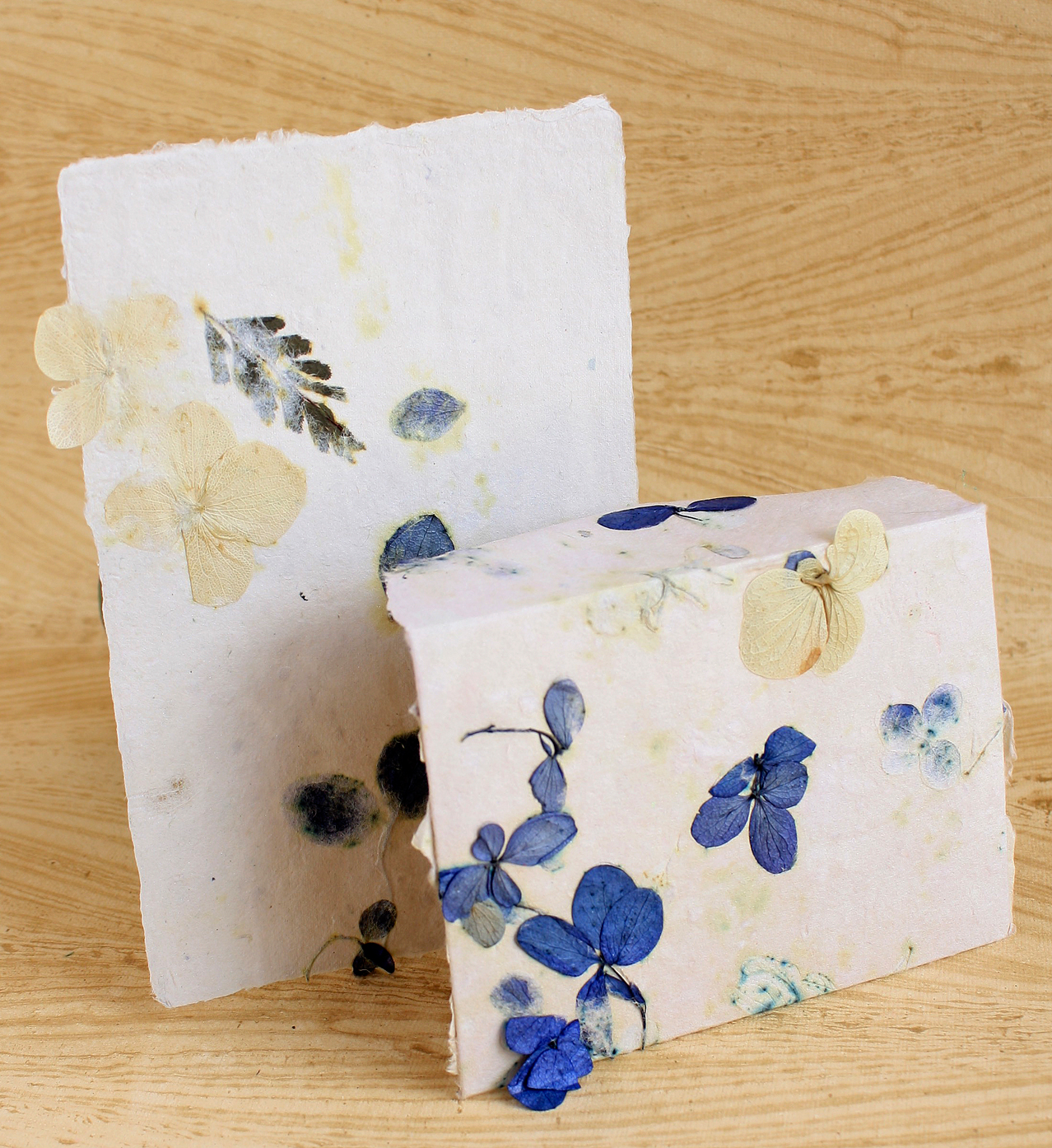 blueberry muffin handmade paper stationery set