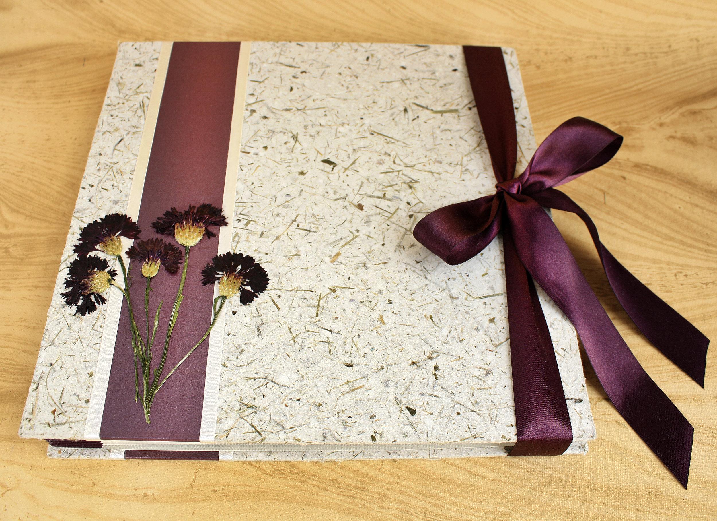handmade paper wedding guestbook