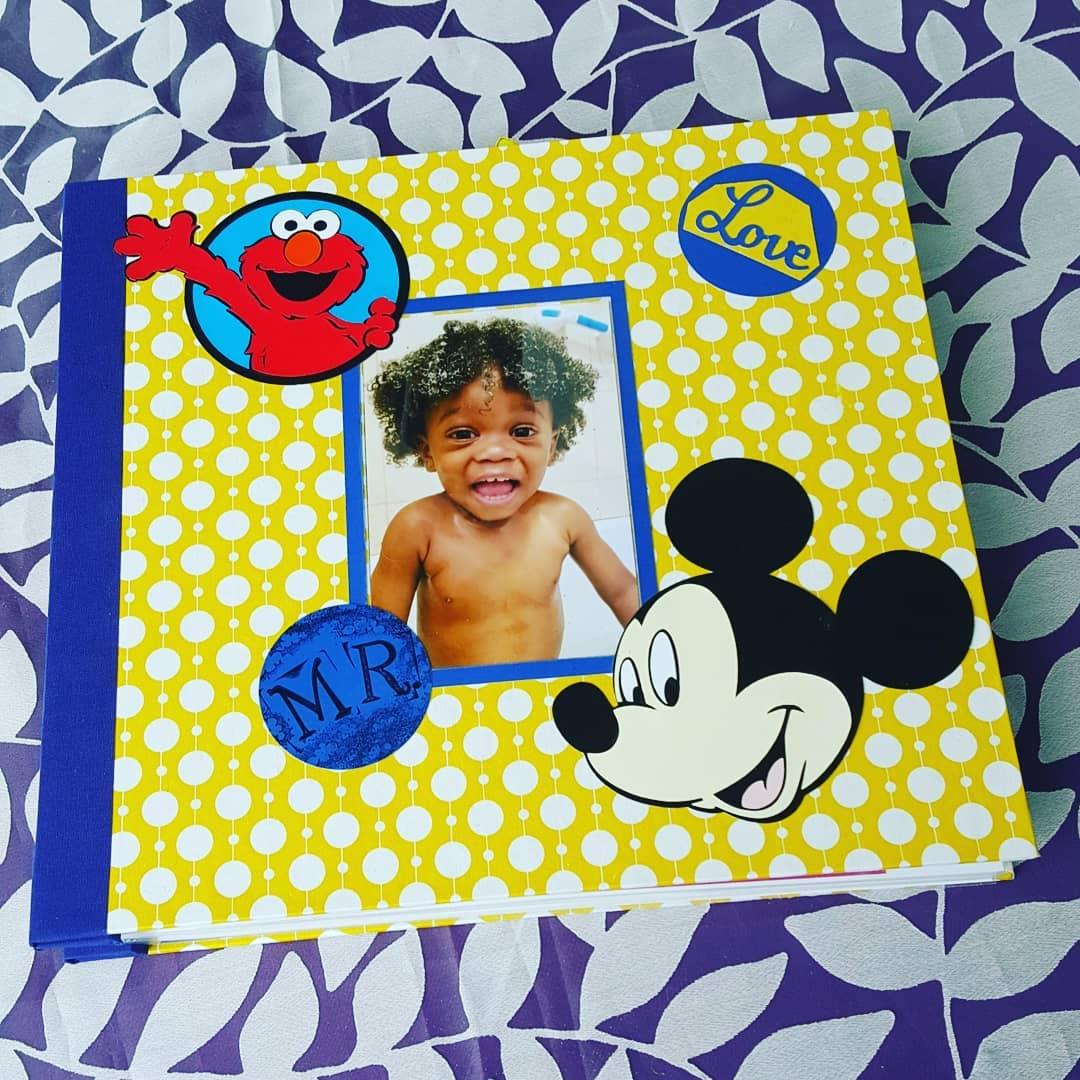 handmade children's photo album