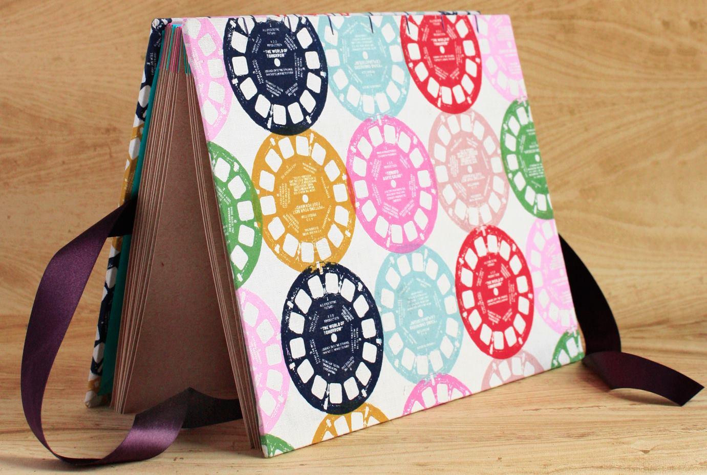 handmade journal viewfinder pattern