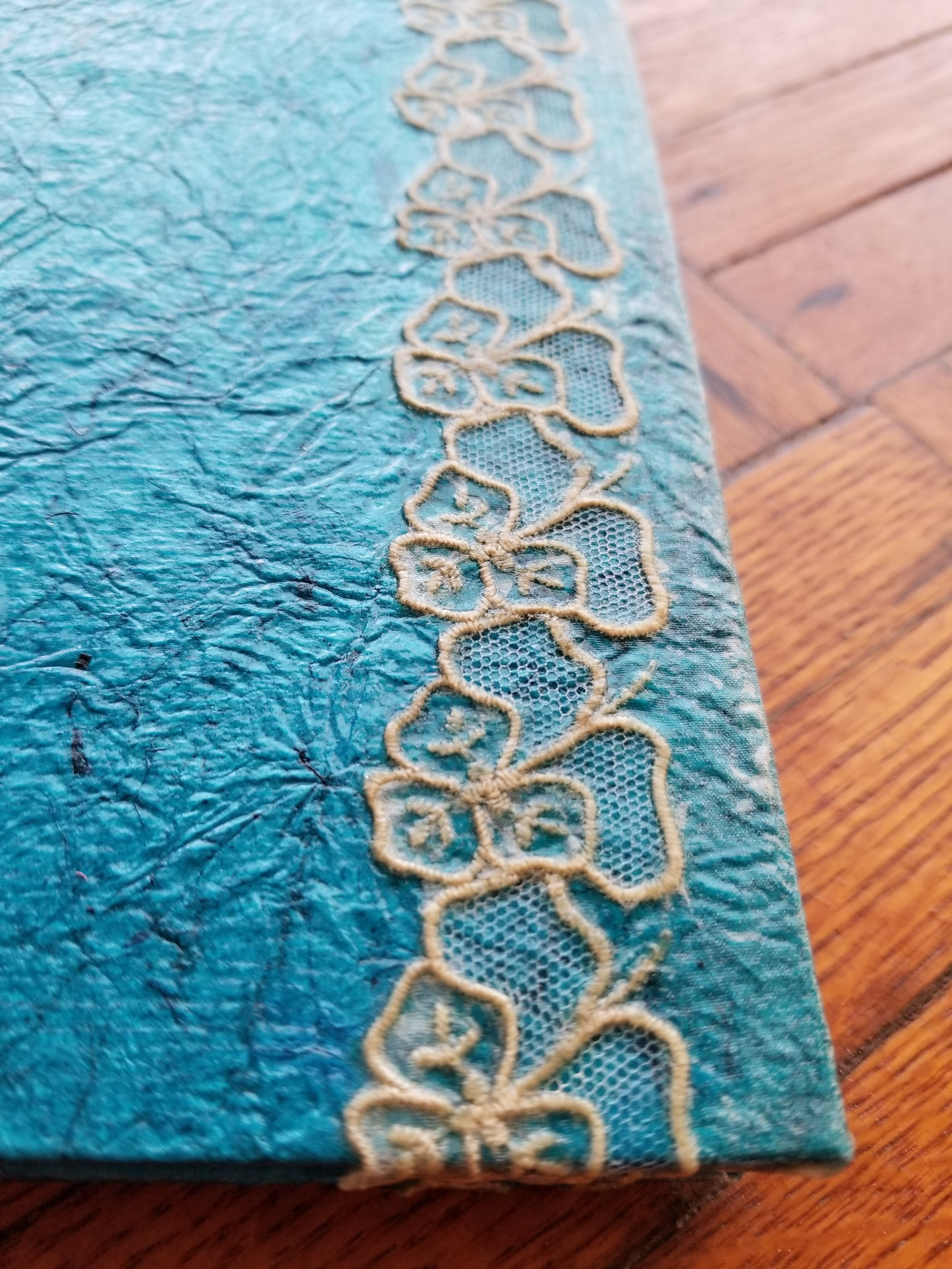 blue handmade book