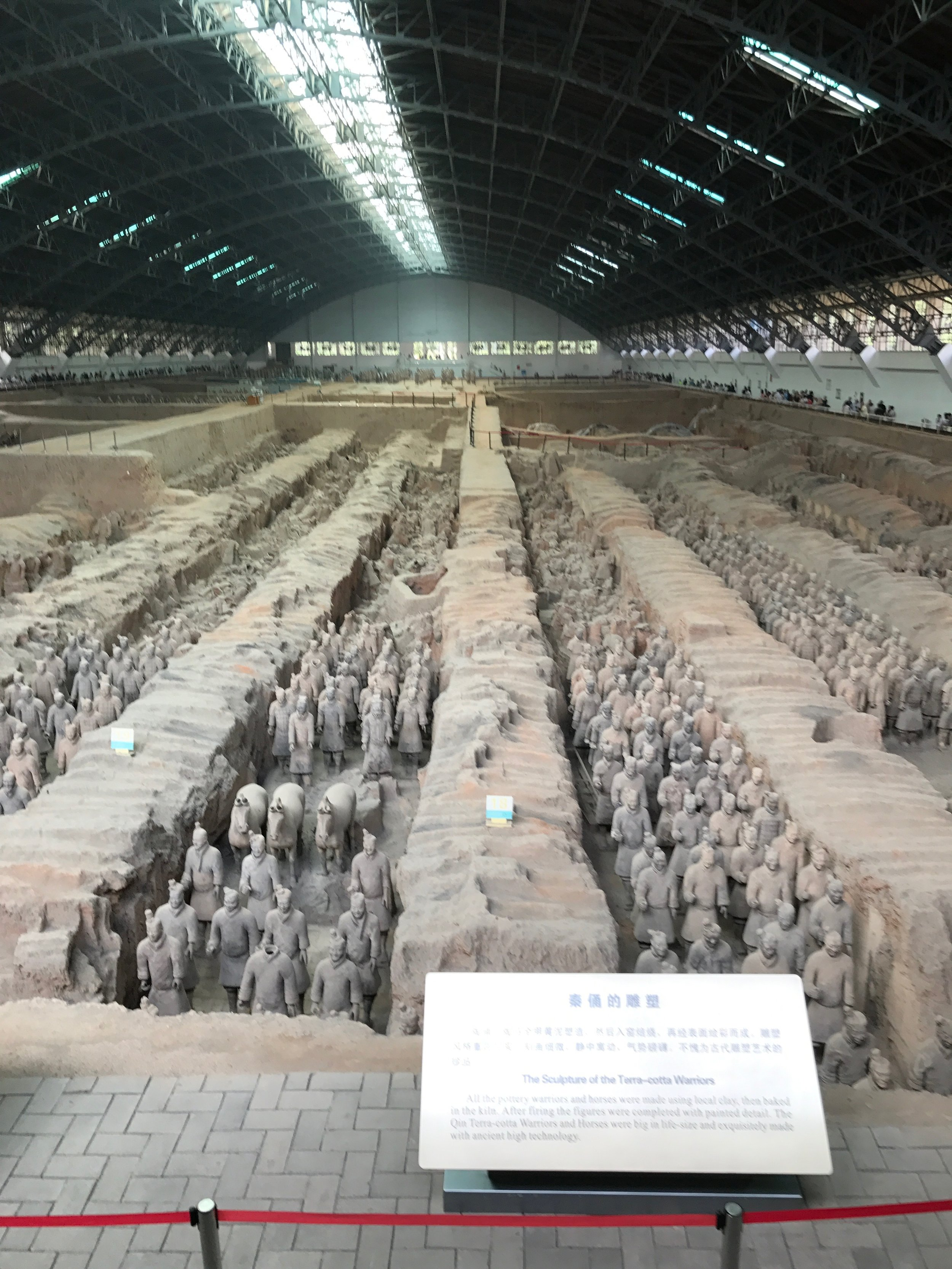 Xian  – The museum of the Terracotta Army. Discovered in 1974 when a local farmer was digging a well, the terracotta army, buried in 210 BC with the first emperor of the Qin dynasty, astounded the world with their artistry and sheer numbers. The thousands of life-size figures have individually unique faces and hair and armor styles appropriate to their rank. The terracotta army was constructed to guard the tomb of Emperor Qin Shihuang, the founding emperor of the Qin Dynasty, and the emperor who united China. It is truly mind boggling to think that this amazing site was built so long ago by such primitive tools and only to guard a tomb in 1987. This archeological treasure was added to UNESCO's World Cultural Heritage List. You'll get to meet the farmer that discovered the site.