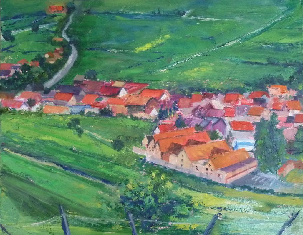 Route De Vin, Alsace 20x16 - Copy.jpg