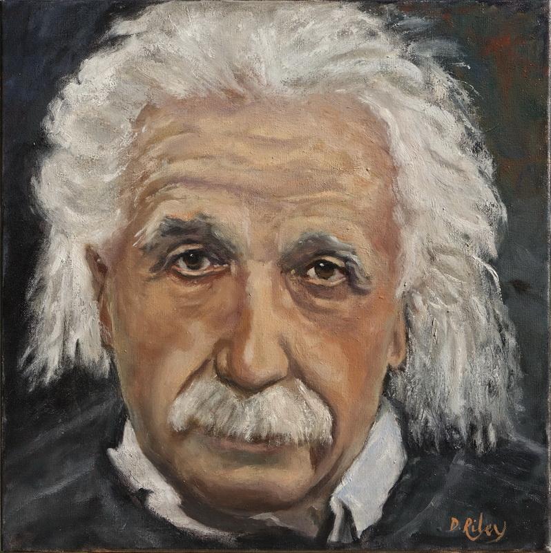 Dahlia Riley_Homage to Albert Einstein_20x20 Oil.jpg