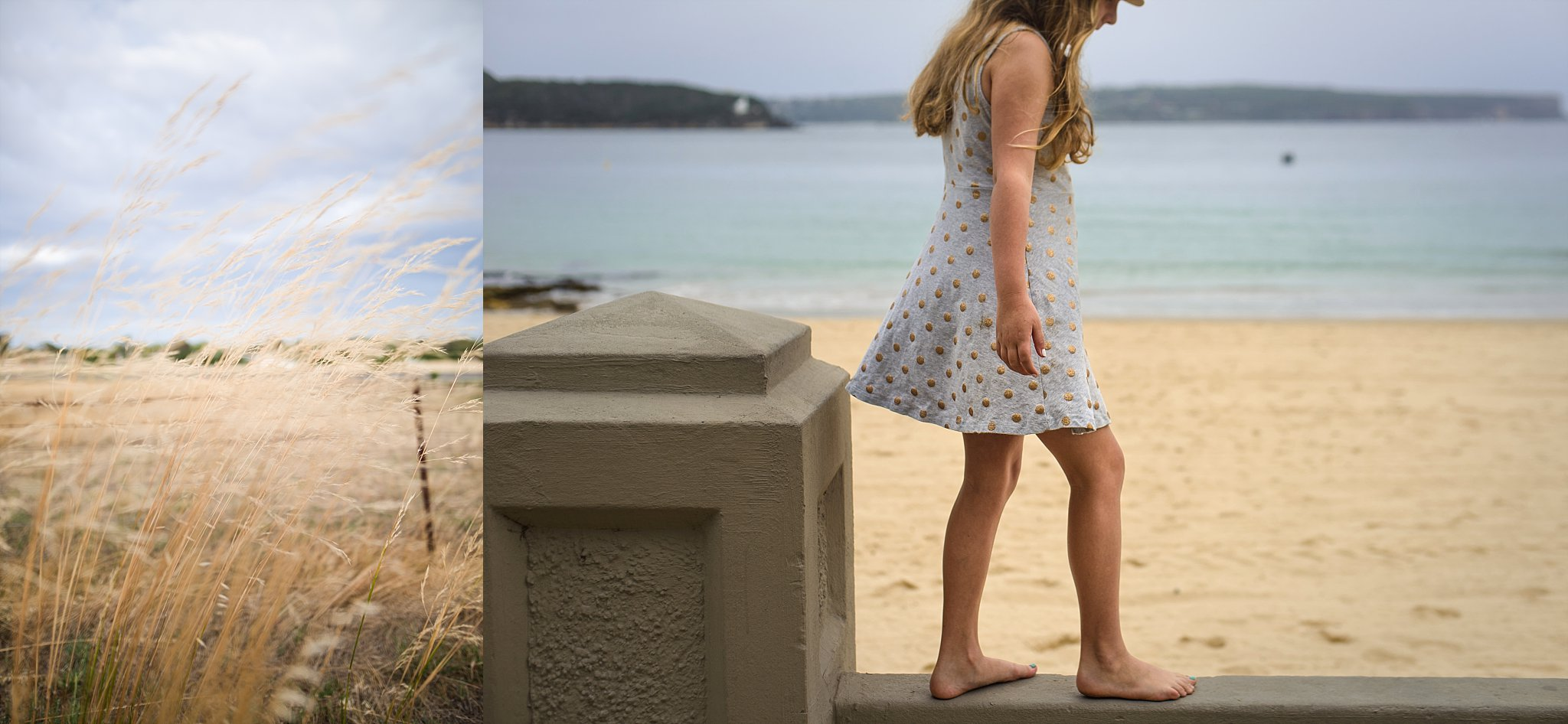 Diptych celebrating the blues and yellows of summer by Cindy Cavanagh, a lifestyle photographer in the Hills District of Sydney.