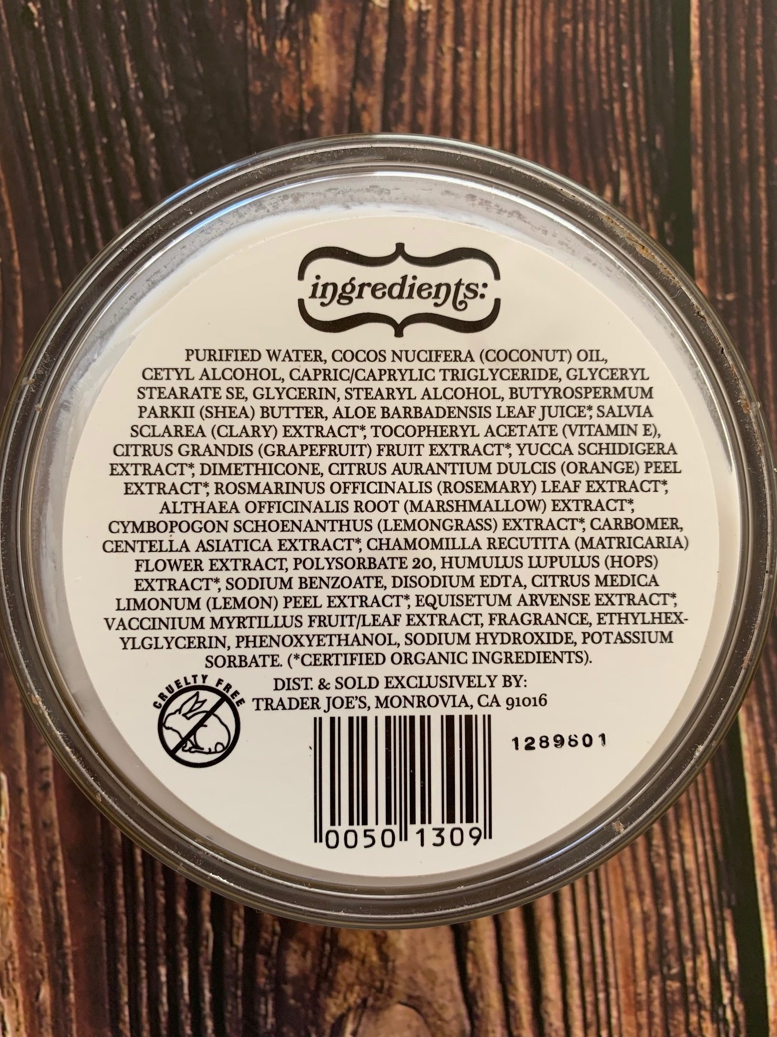 No parabens from what I can decipher on the ingredients label and it's cruelty free.