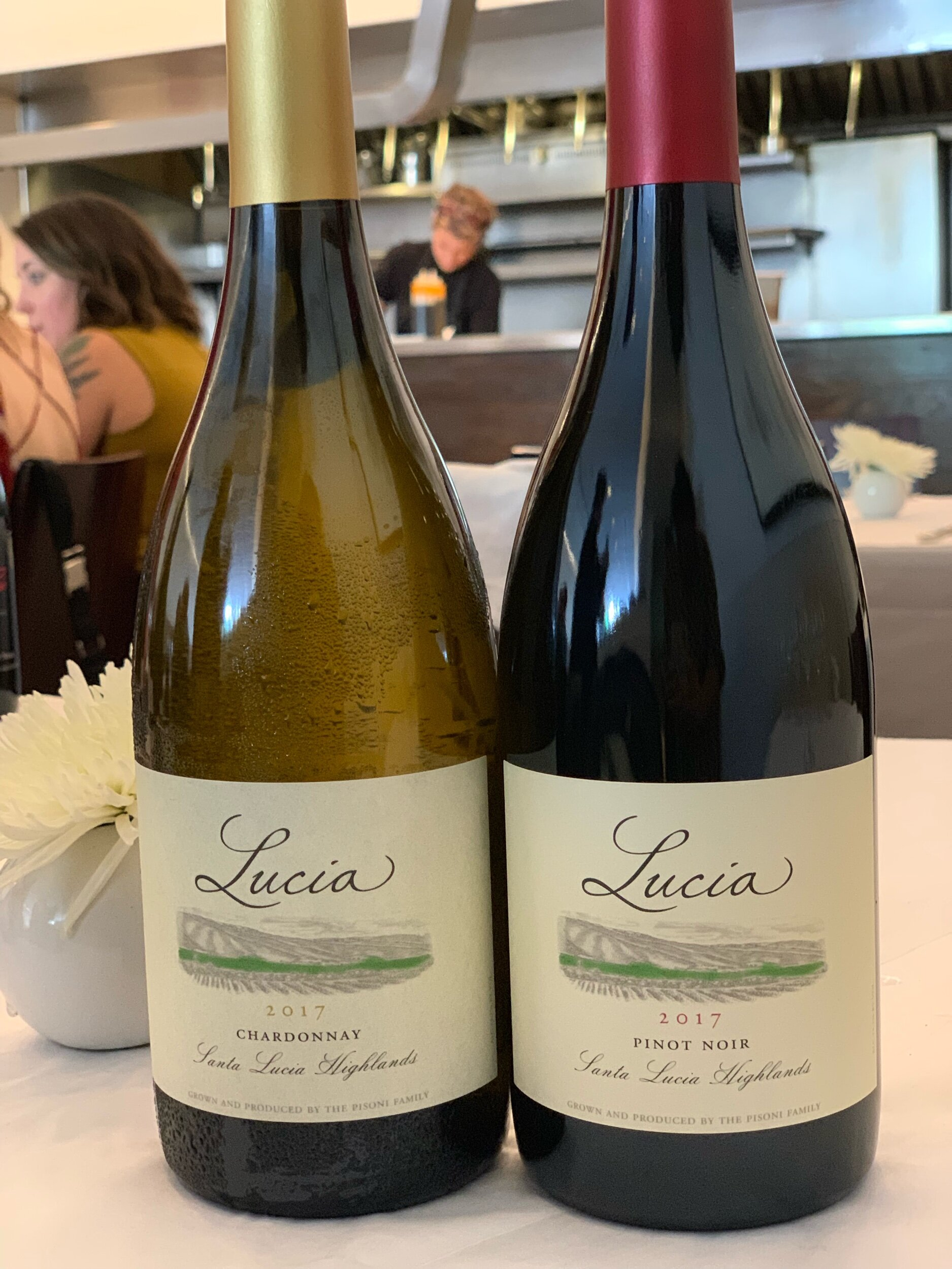 The Lucia Wines are made by the Pisoni Family.