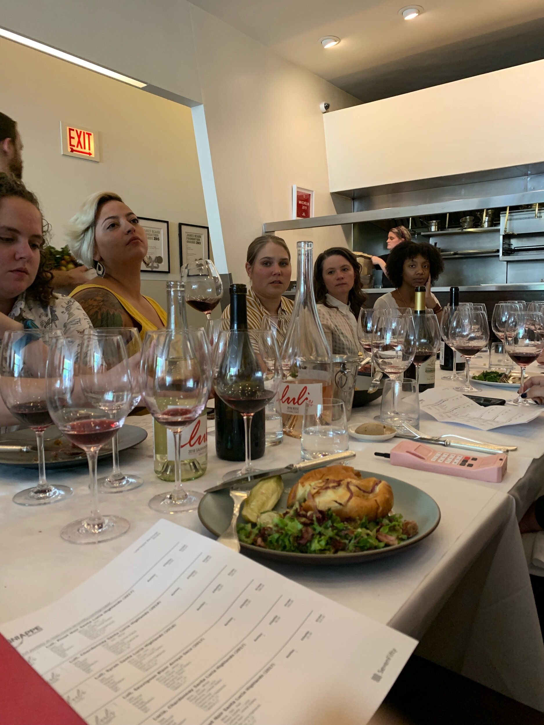 Nice to see so many female wine pros at one table!