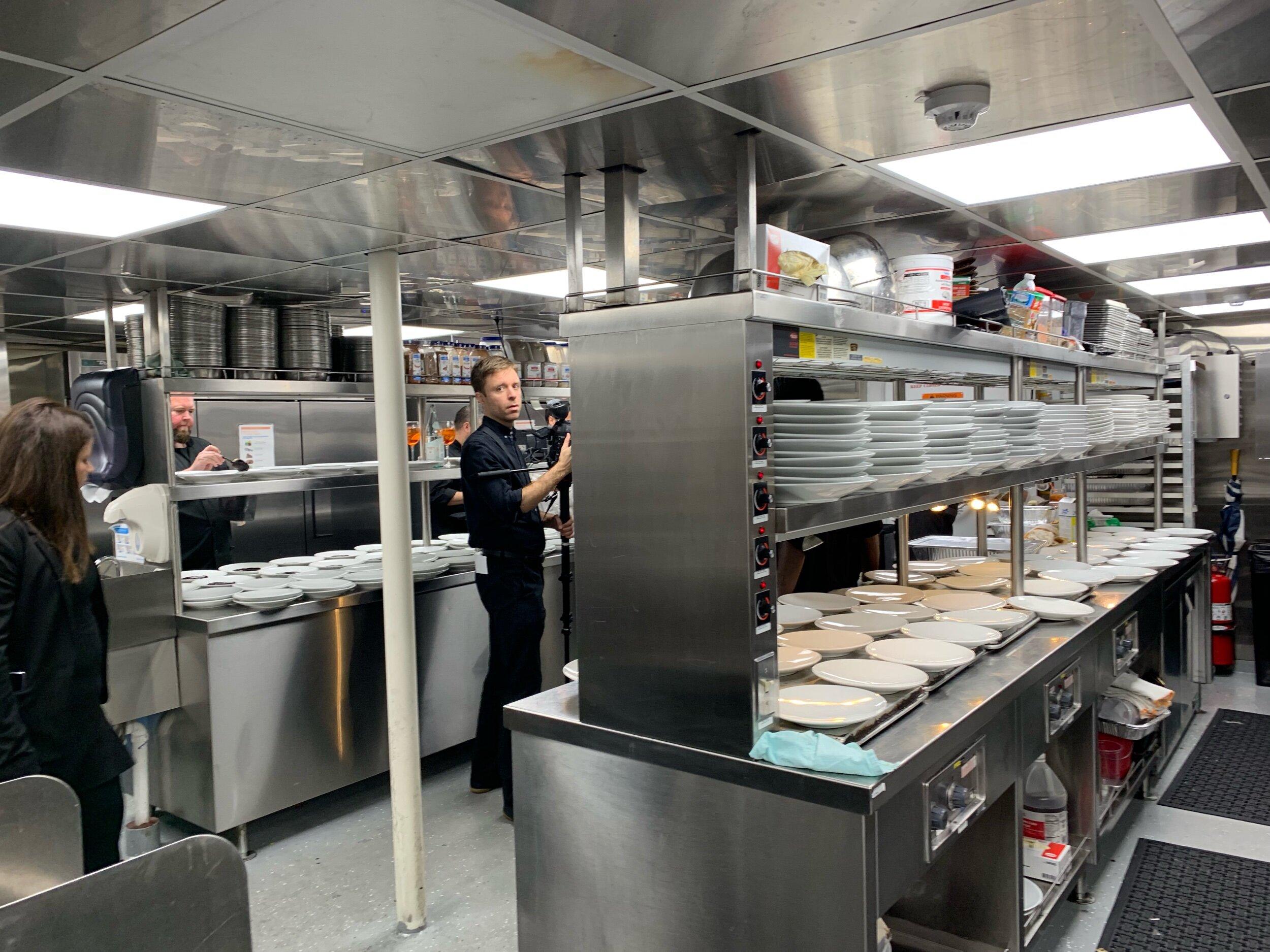 The galley kitchen