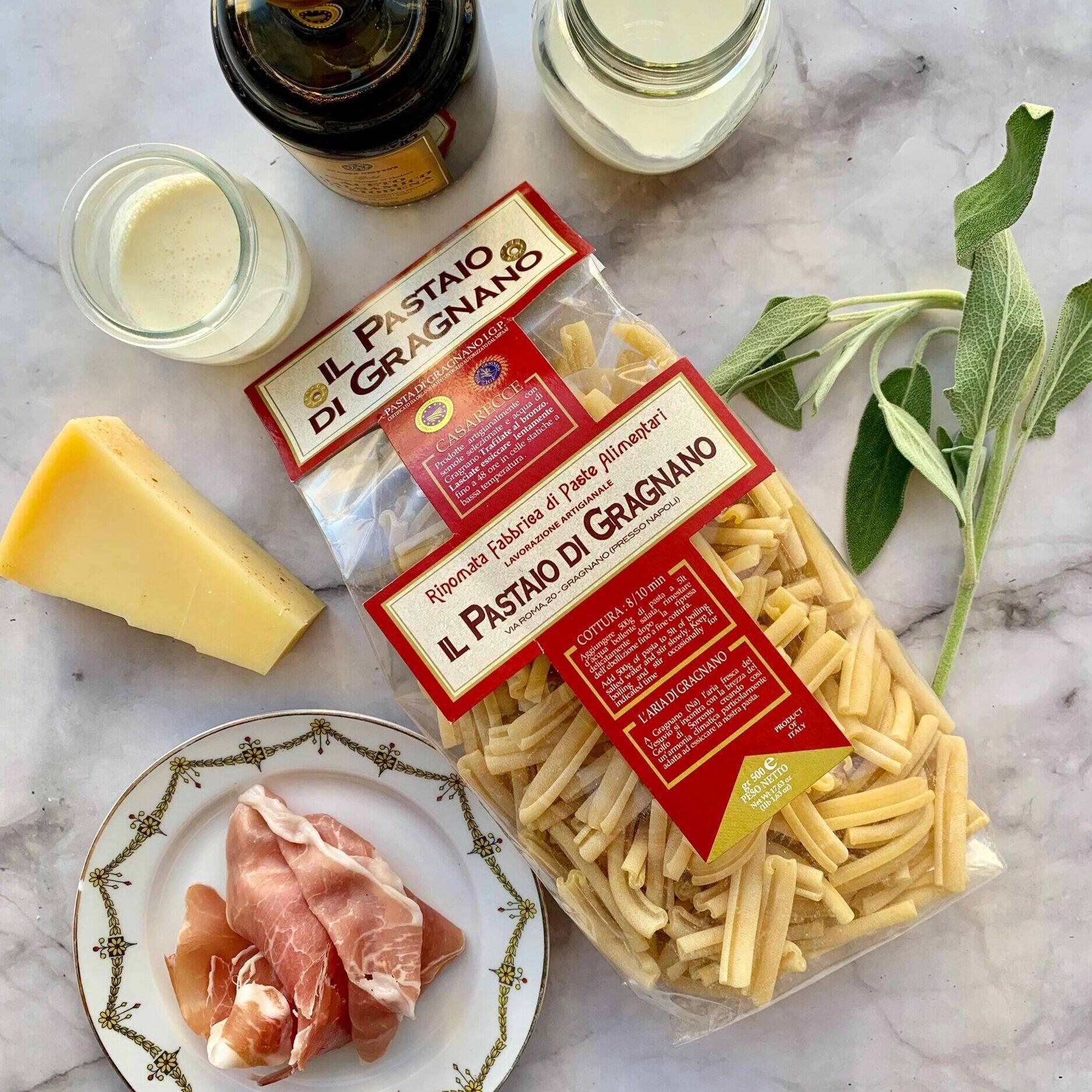 Ingredients for Casarecce alla Emilia-Romagna